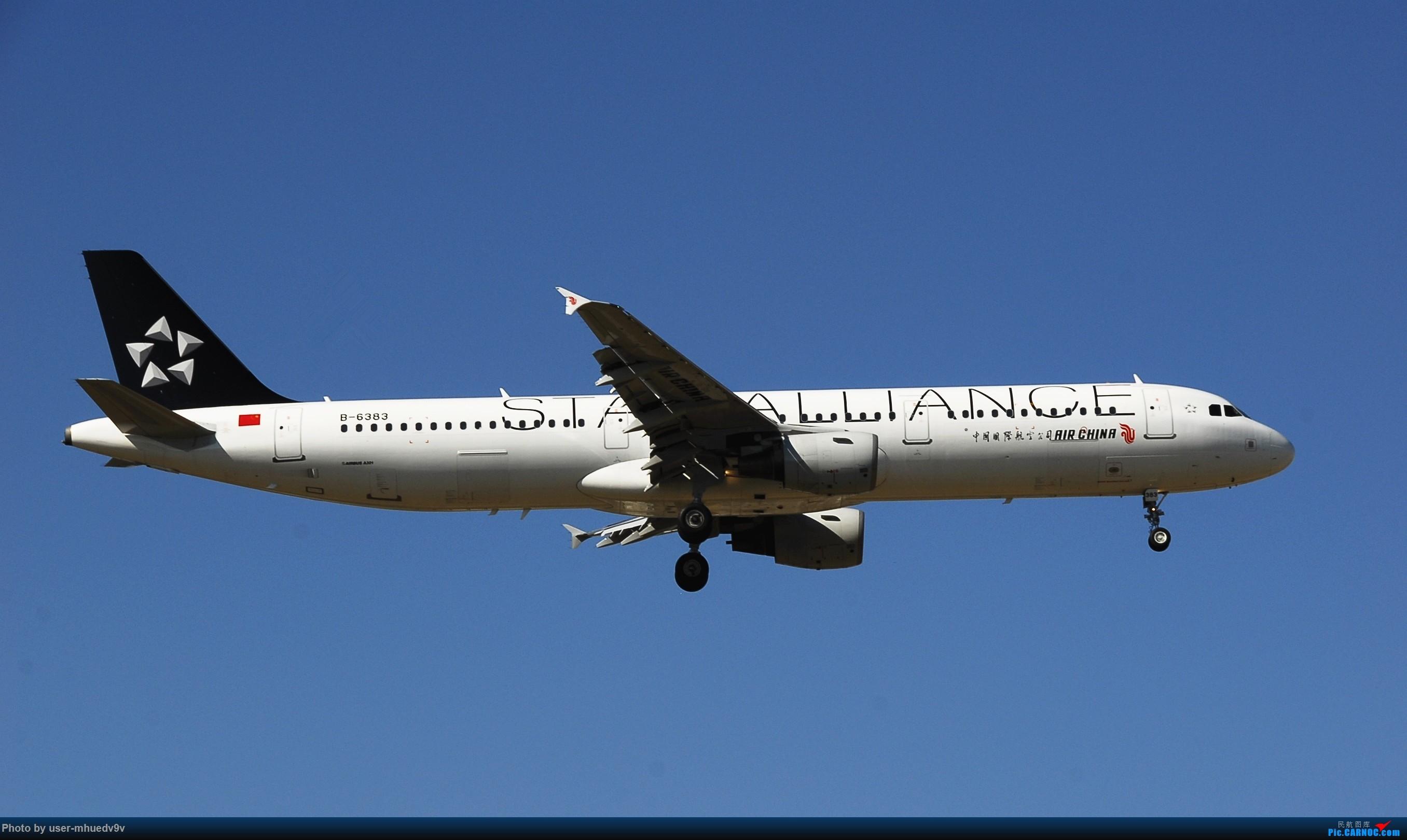 Re:[原创]十一难得北京妖天,萌新ZBAA拍机一组干货,大佬勿喷,马上月考更要放飞自我。。。 AIRBUS A321-200 B-6383 中国北京首都国际机场