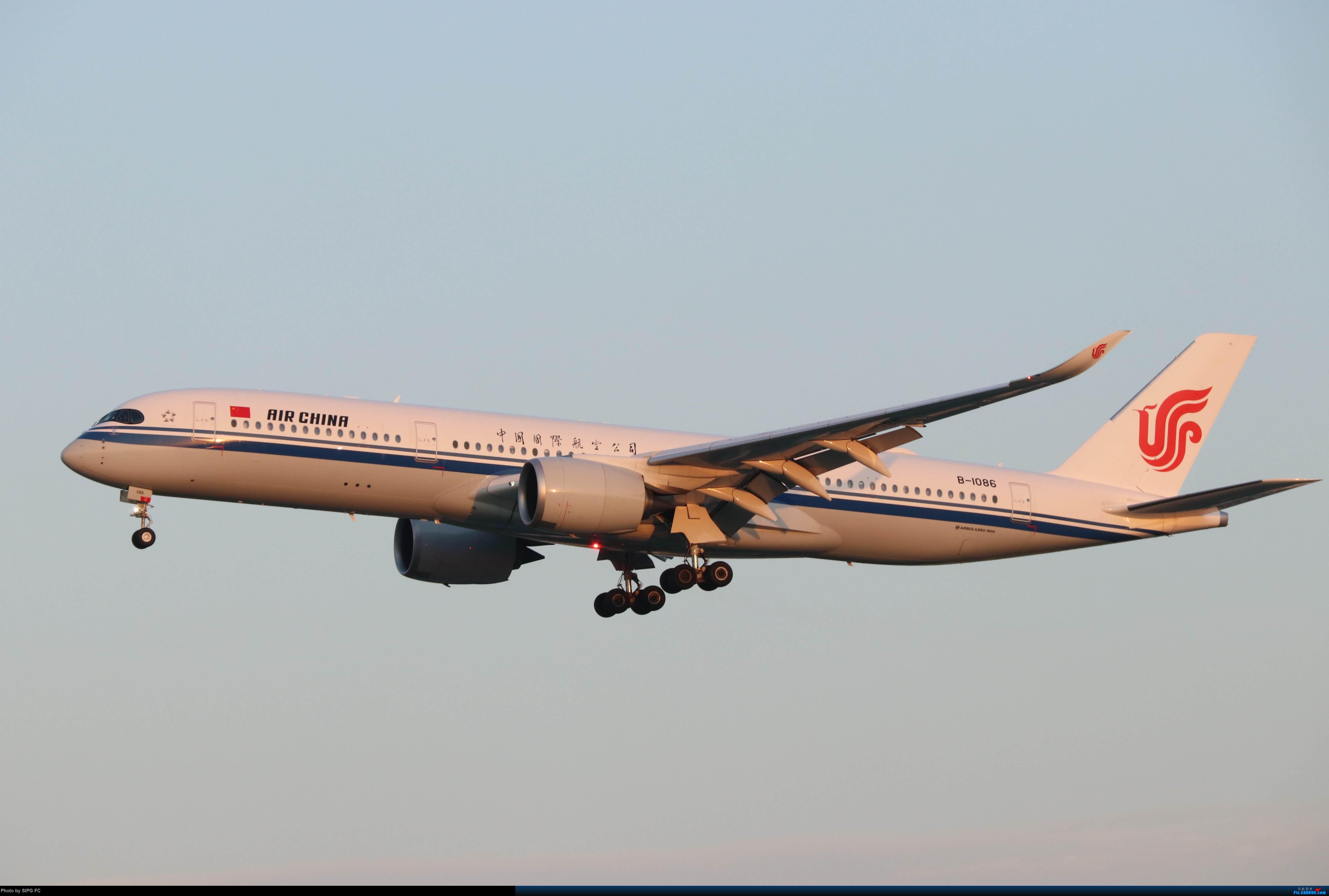 Re:夕阳下的国航A350-900(B-1086) AIRBUS A350-900 B-1086 中国上海虹桥国际机场