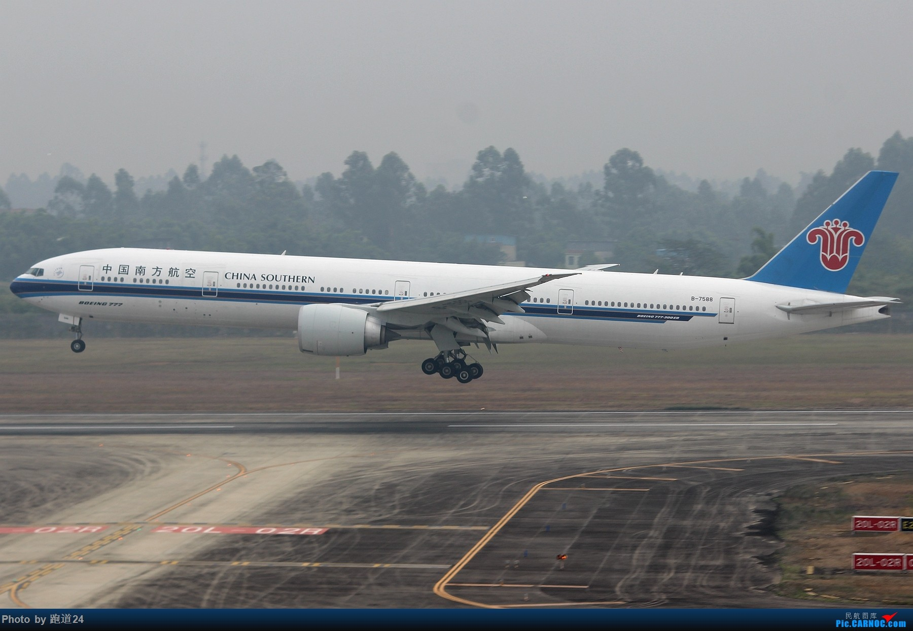Re:[原创]【多图党】国庆烂天拍机 1800*1200 BOEING 777-300ER B-7588 中国成都双流国际机场