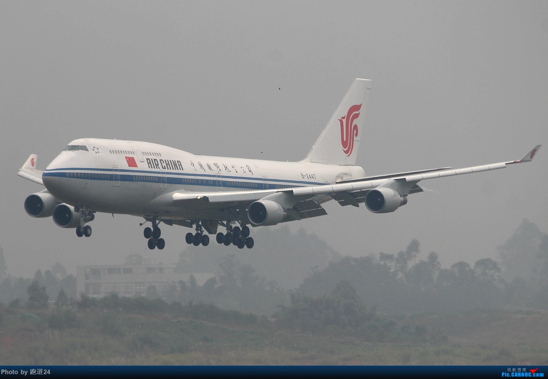 Re:[原创]【多图党】国庆烂天拍机 1800*1200 BOEING 747-400 B-2447 中国成都双流国际机场