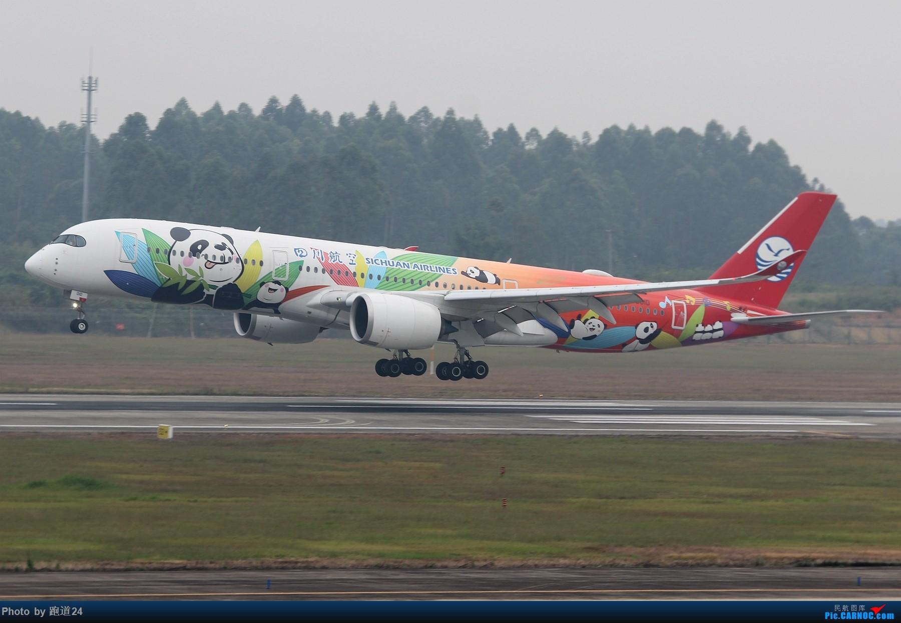 Re:[原创]【多图党】国庆烂天拍机 1800*1200 AIRBUS A350-900 B-301D 中国成都双流国际机场