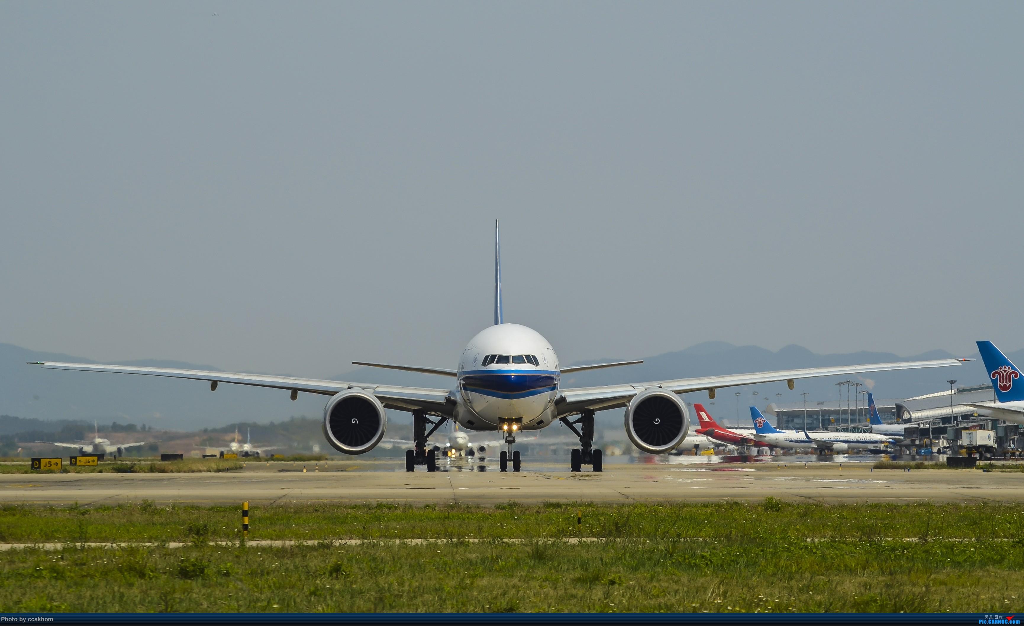 [原创]三图秀之ZGGG T1J2位拍B777-300ER BOEING 777-300ER B-7588 中国广州白云国际机场