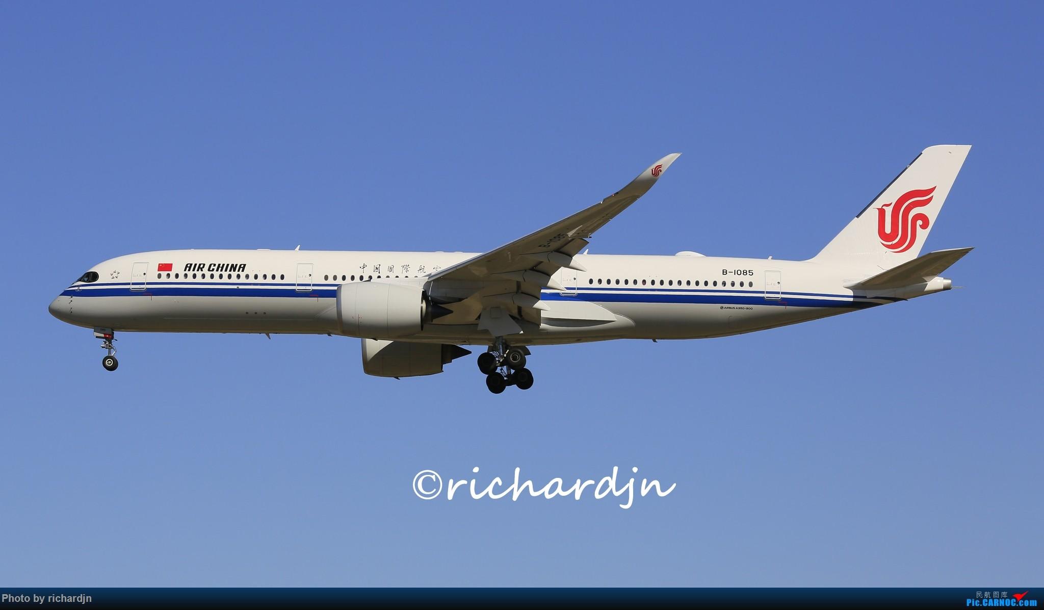 Re:[原创]国航运营的三只墨镜侠 AIRBUS A350-900 B-1085 中国北京首都国际机场