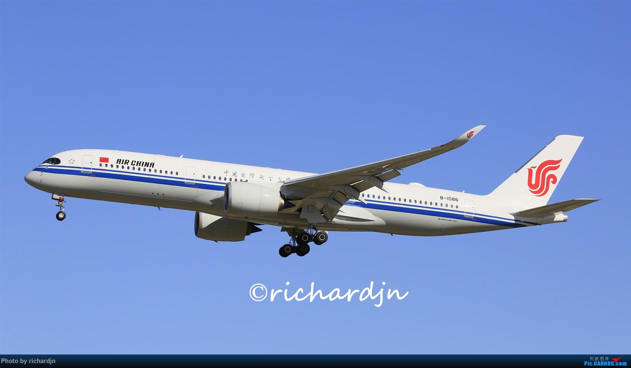 Re:[原创]国航运营的三只墨镜侠 AIRBUS A350-900 B-1086 中国北京首都国际机场