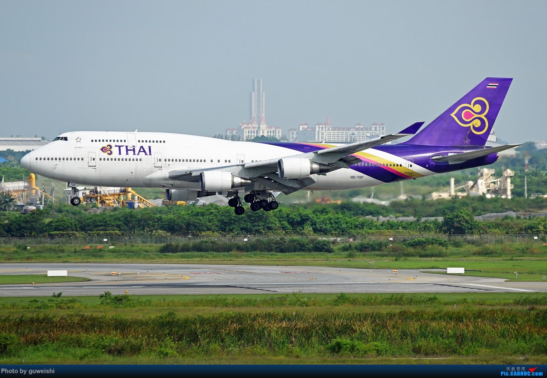 [原创]【早师傅出品】——这是一架才冲出跑道的飞机 BOEING 747-400 HS-TGF 泰国曼谷素万那普国际机场
