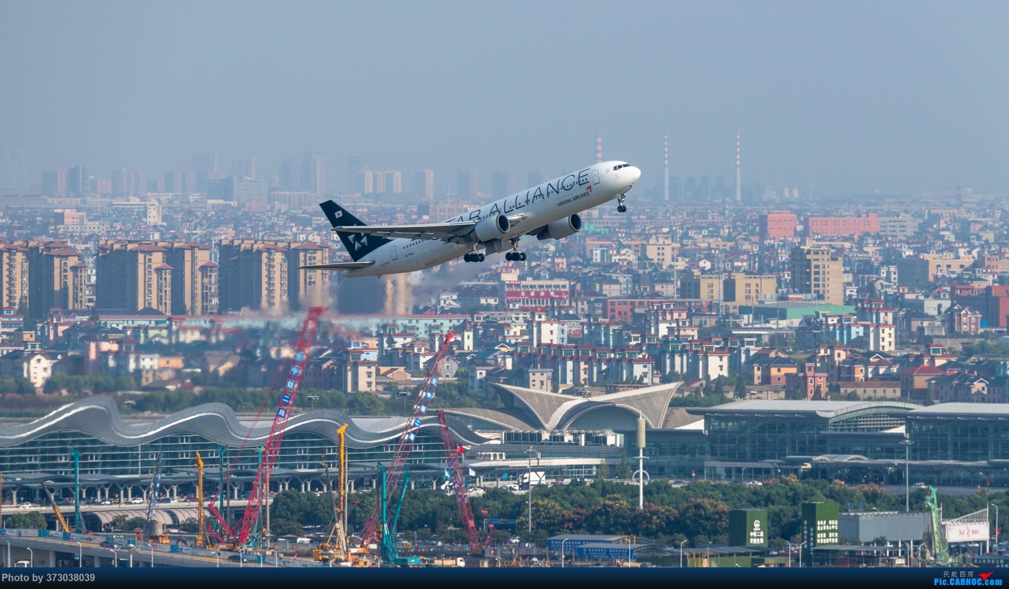 Re:[原创]山顶动人,杭州萧山国际机场 红山观光视角 BOEING 767-300ER HL-7516 中国杭州萧山国际机场