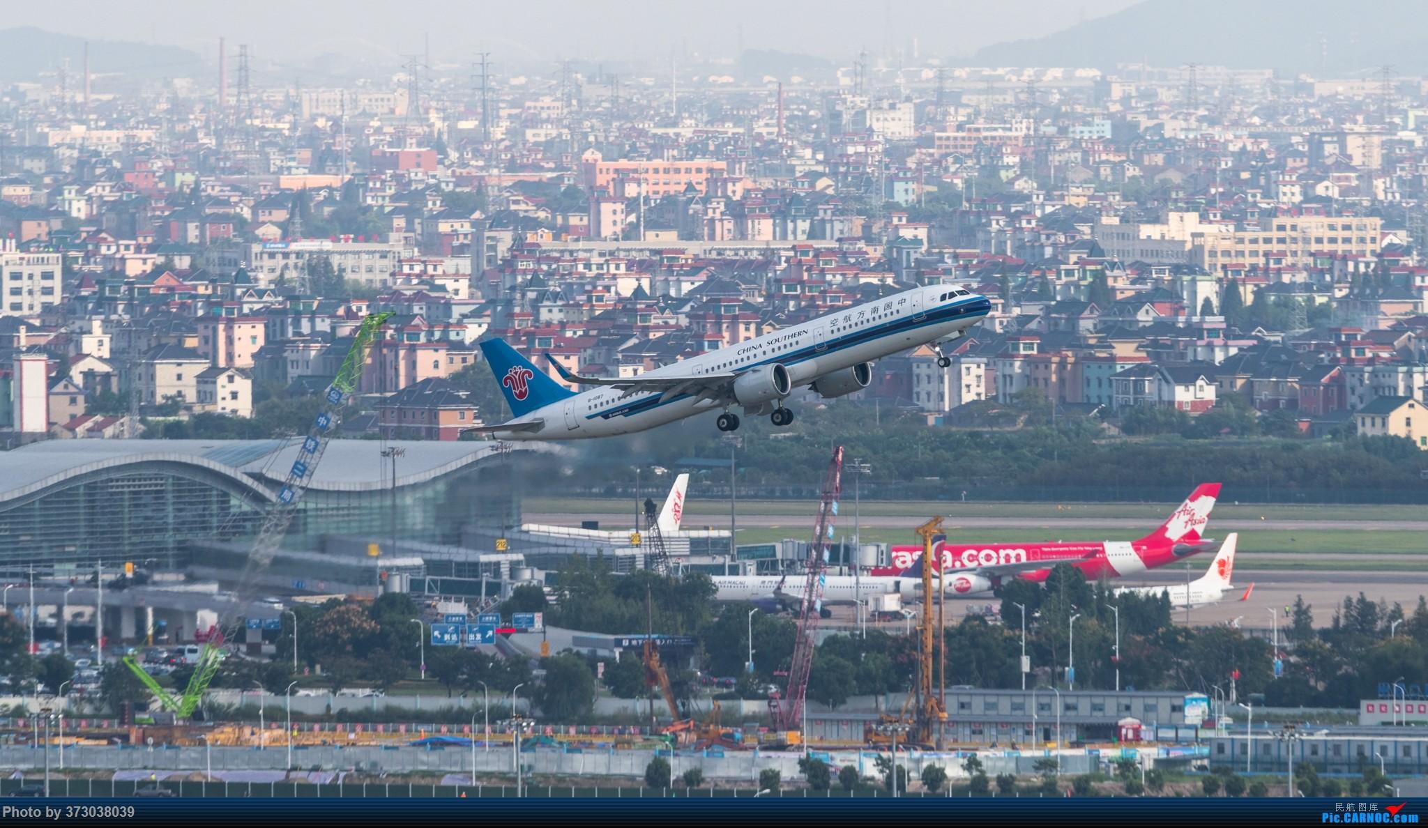 Re:[原创]山顶动人,杭州萧山国际机场 红山观光视角 AIRBUS A321NEO B-1087 中国杭州萧山国际机场