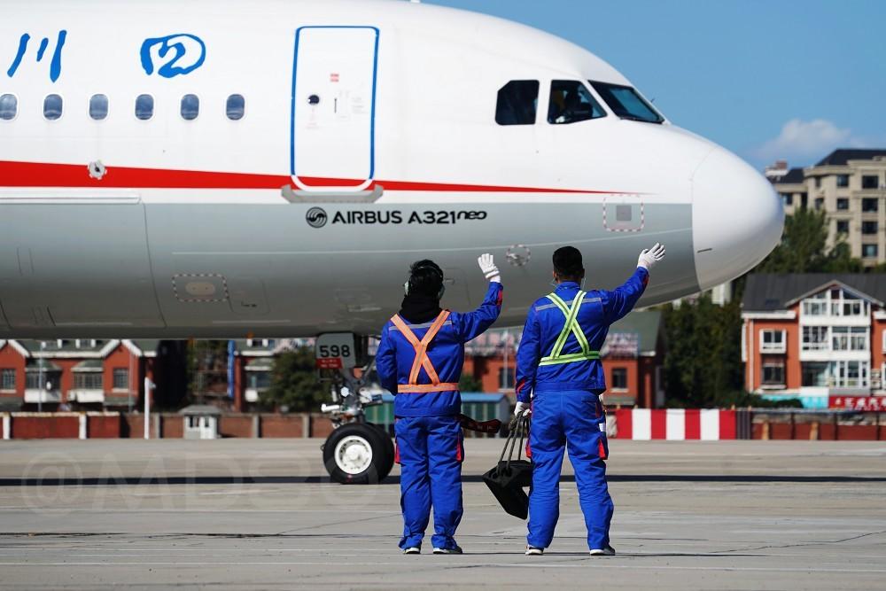 """[原创][DLC内场]川航的""""妞"""" AIRBUS A321NEO B-8598 中国大连国际机场"""