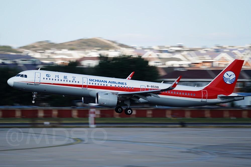 """Re:[DLC内场]川航的""""妞"""" AIRBUS A321NEO B-8598 中国大连国际机场"""