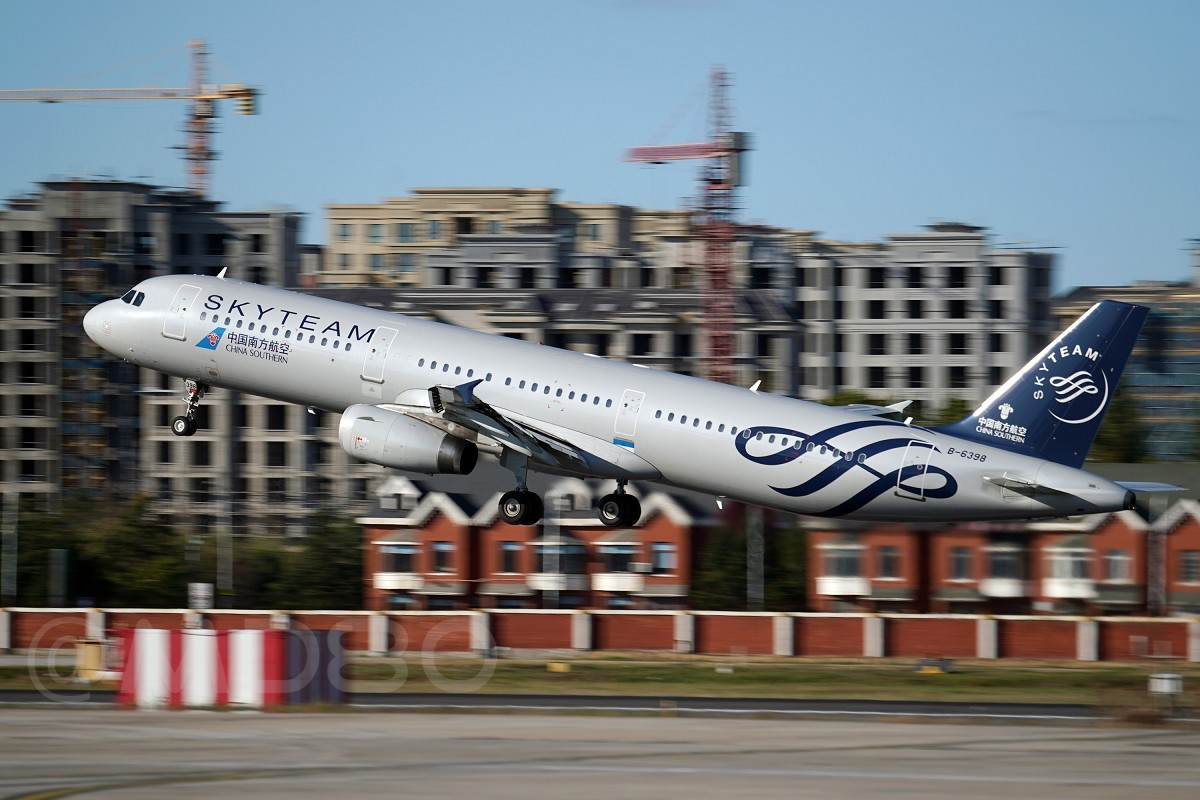 [原创][DLC内场] 天合联盟号入驻DLC AIRBUS A321-200 B-6398 中国大连国际机场