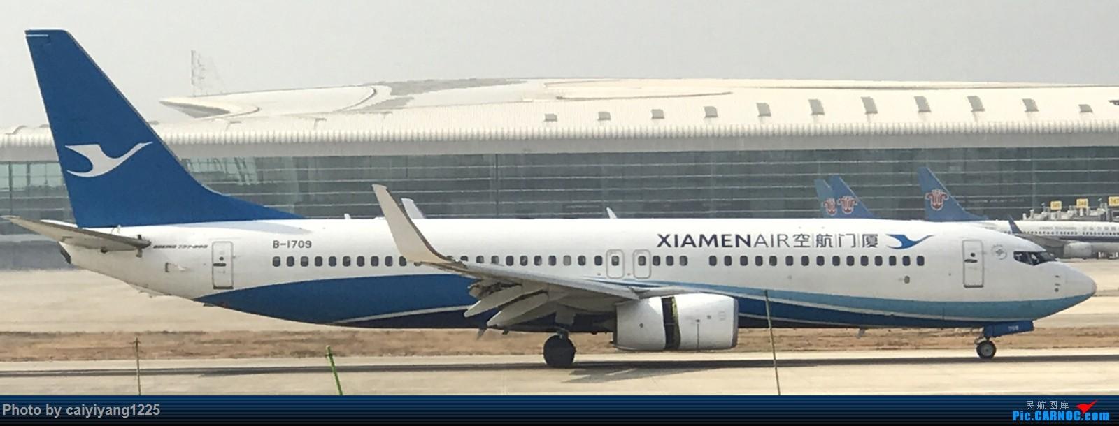 Re:[原创]武汉国庆拍机ps:出门忘带相机 拿手机拍的烂货请见谅! BOEING 737-800 B-1709 武汉天河国际机场