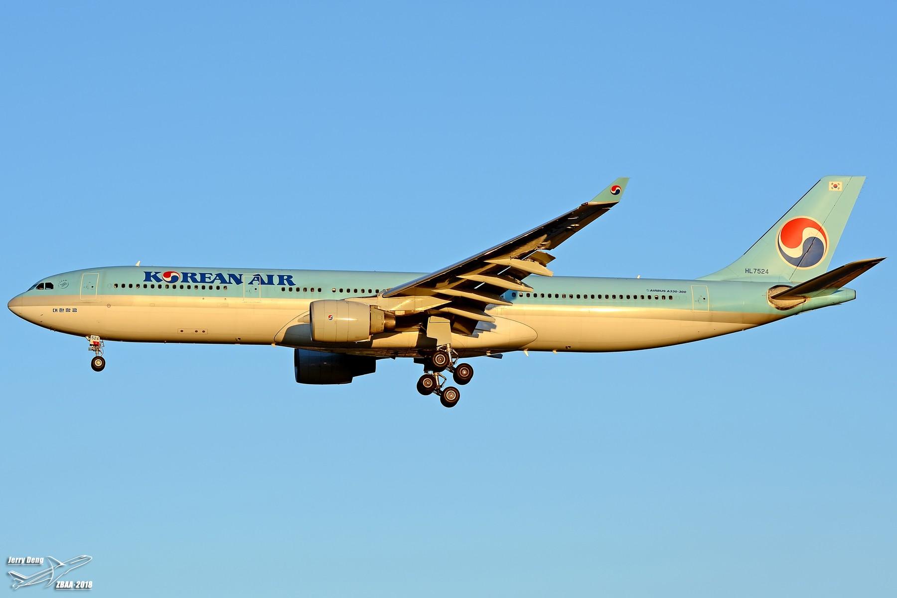 Re:[原创]【多图党】出差赶上天气不错ZBAA随拍 AIRBUS A330-300 HL7524 中国北京首都国际机场