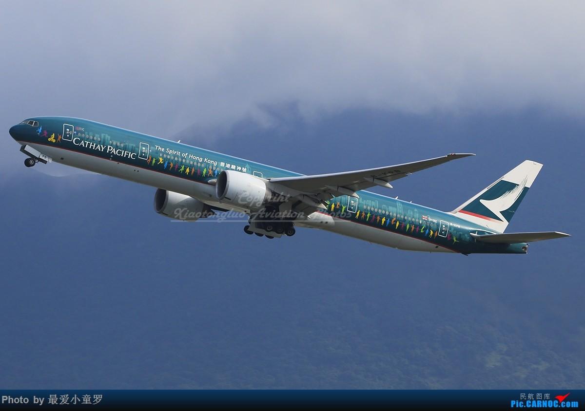[原创]一图党——纪念香港精神号,飞翔的大黄瓜 BOEING 777-300ER B-KPB 中国香港国际机场
