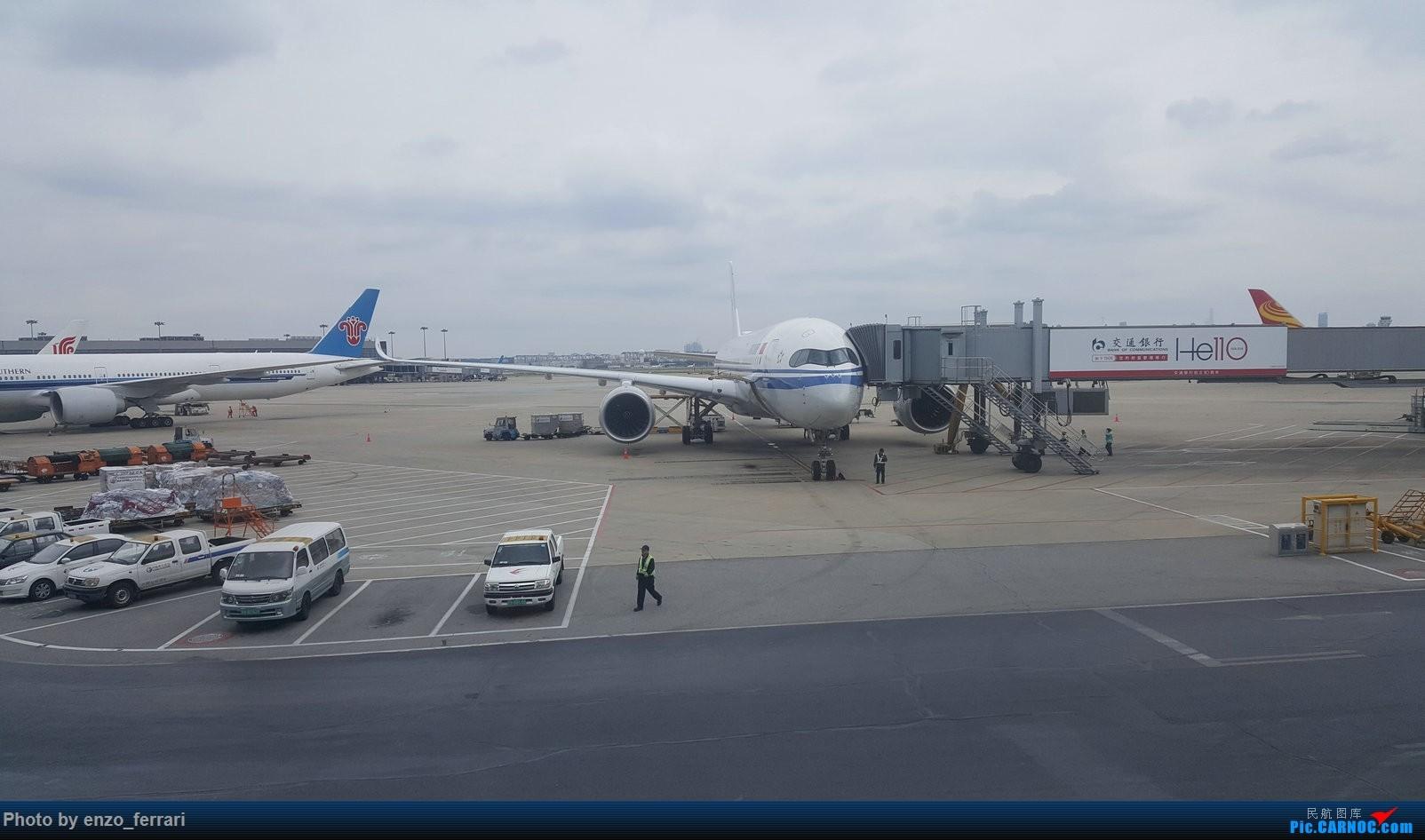 上海虹桥偶遇国航350 AIRBUS A350-900 B-1085 中国上海虹桥国际机场