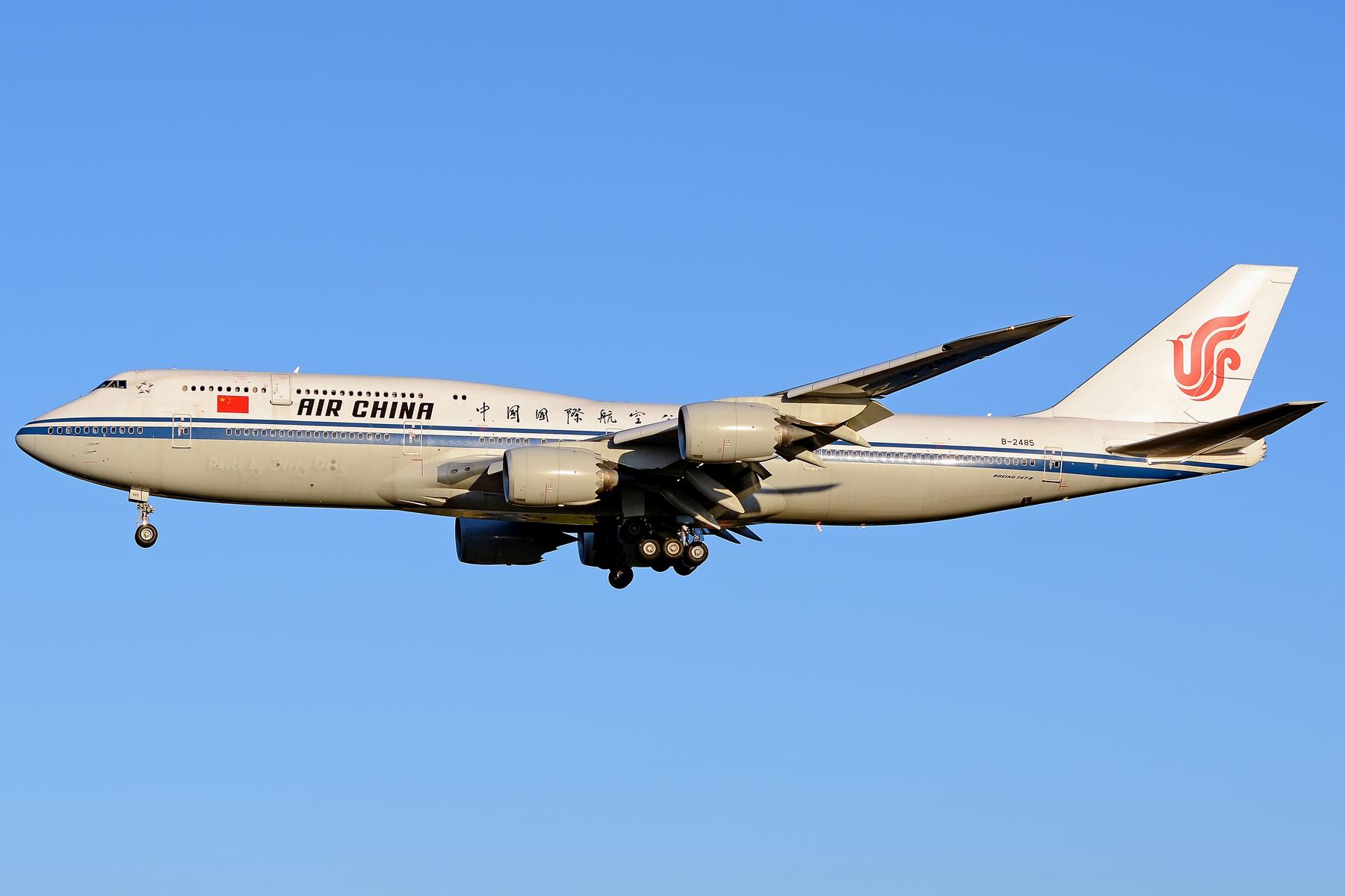 [原创]【多图党】PEK落地一组国航系【2】 BOEING 747-8I B-2485 中国北京首都国际机场
