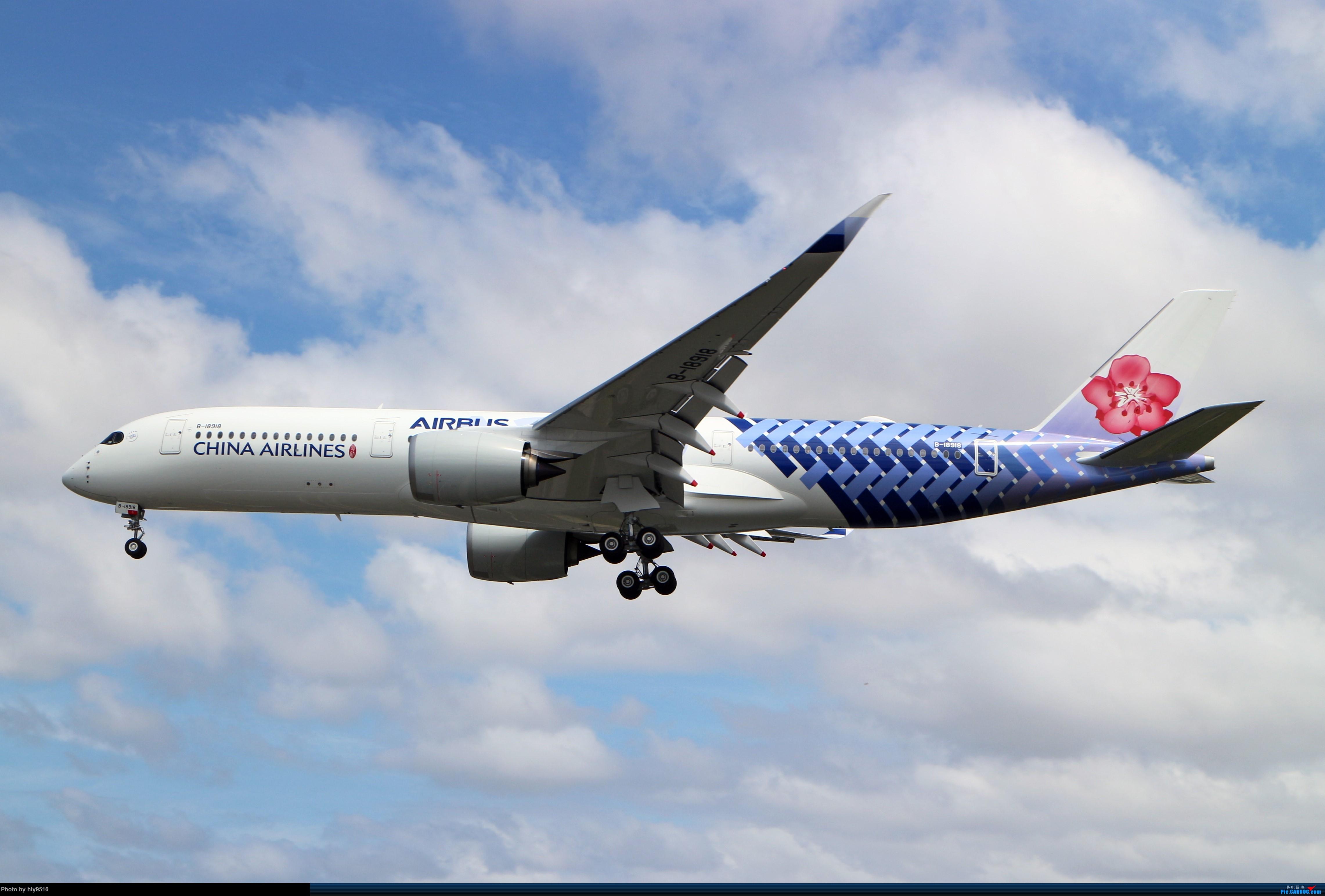 Re:[原创]【SYD】华航碳纤维首航悉尼 AIRBUS A350-900 B-18918 澳大利亚悉尼金斯福德·史密斯机场