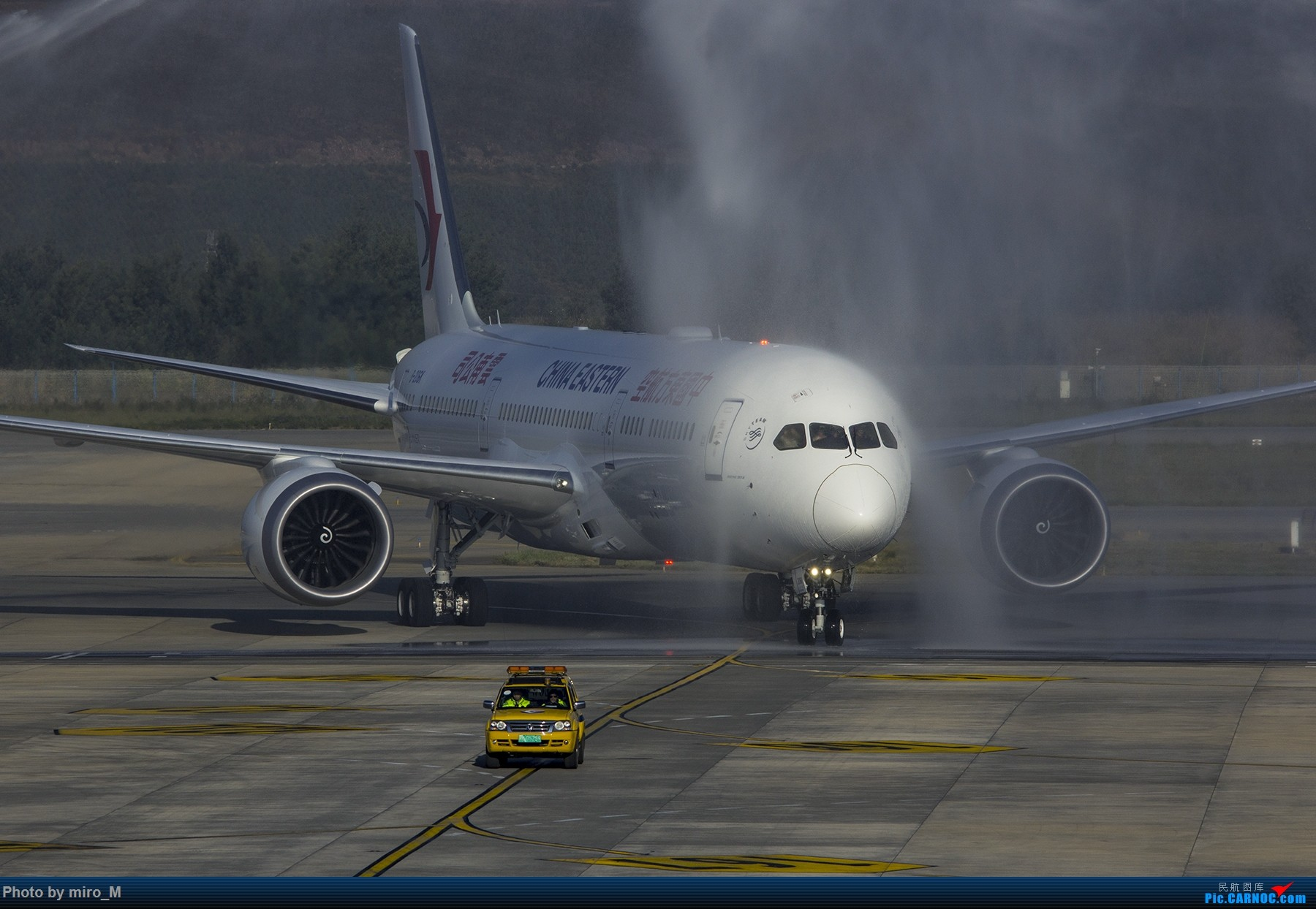 [原创]【一图党】水门迎接燕子首架789入驻云南 BOEING 787-9 B-206K 中国昆明长水国际机场