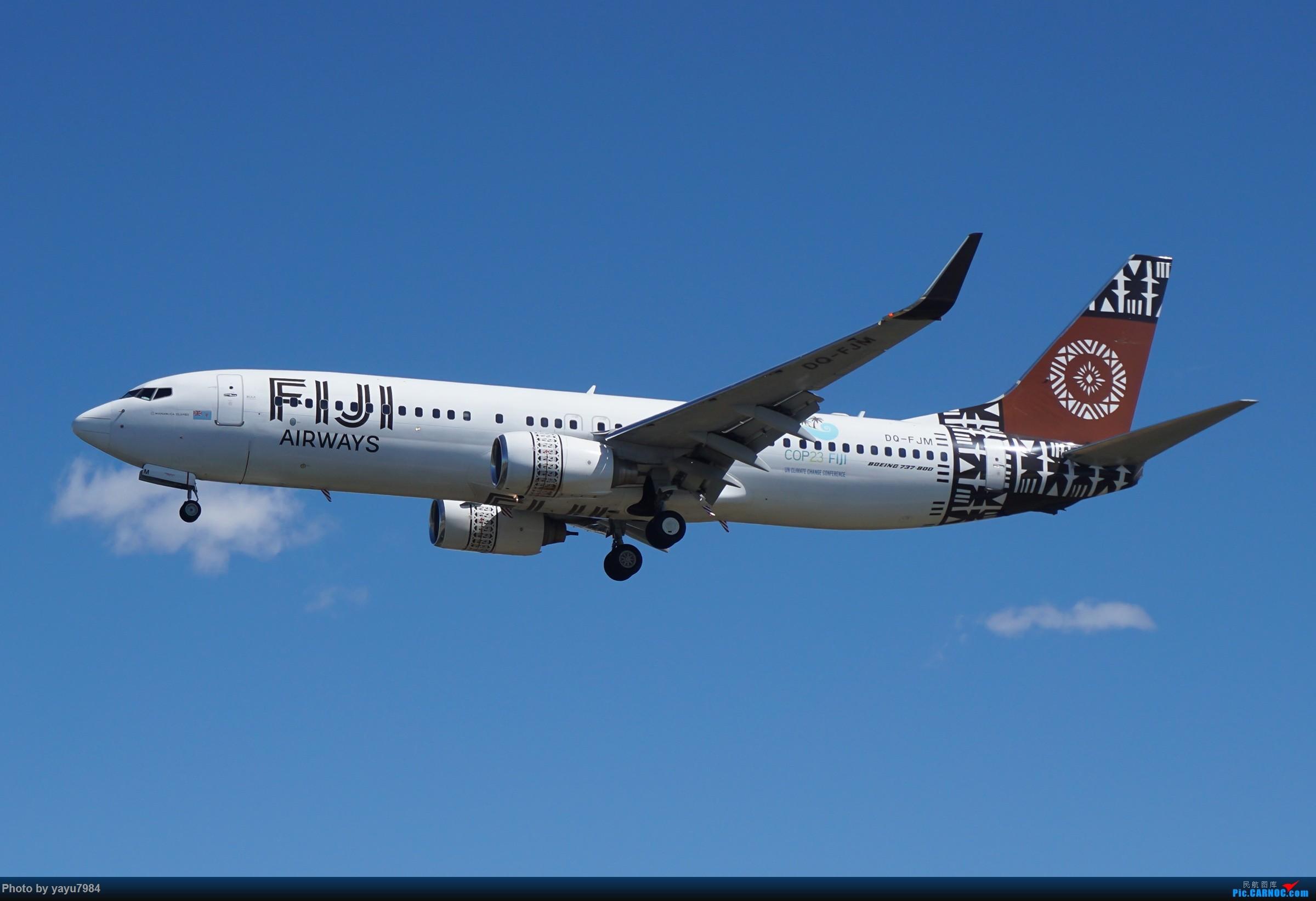 Re:[原创][SYD] 东航天合332,雪绒花343,华航蓝鹊,以及其他日常货 BOEING 737-800 DQ-FJM 澳大利亚悉尼金斯福德·史密斯机场