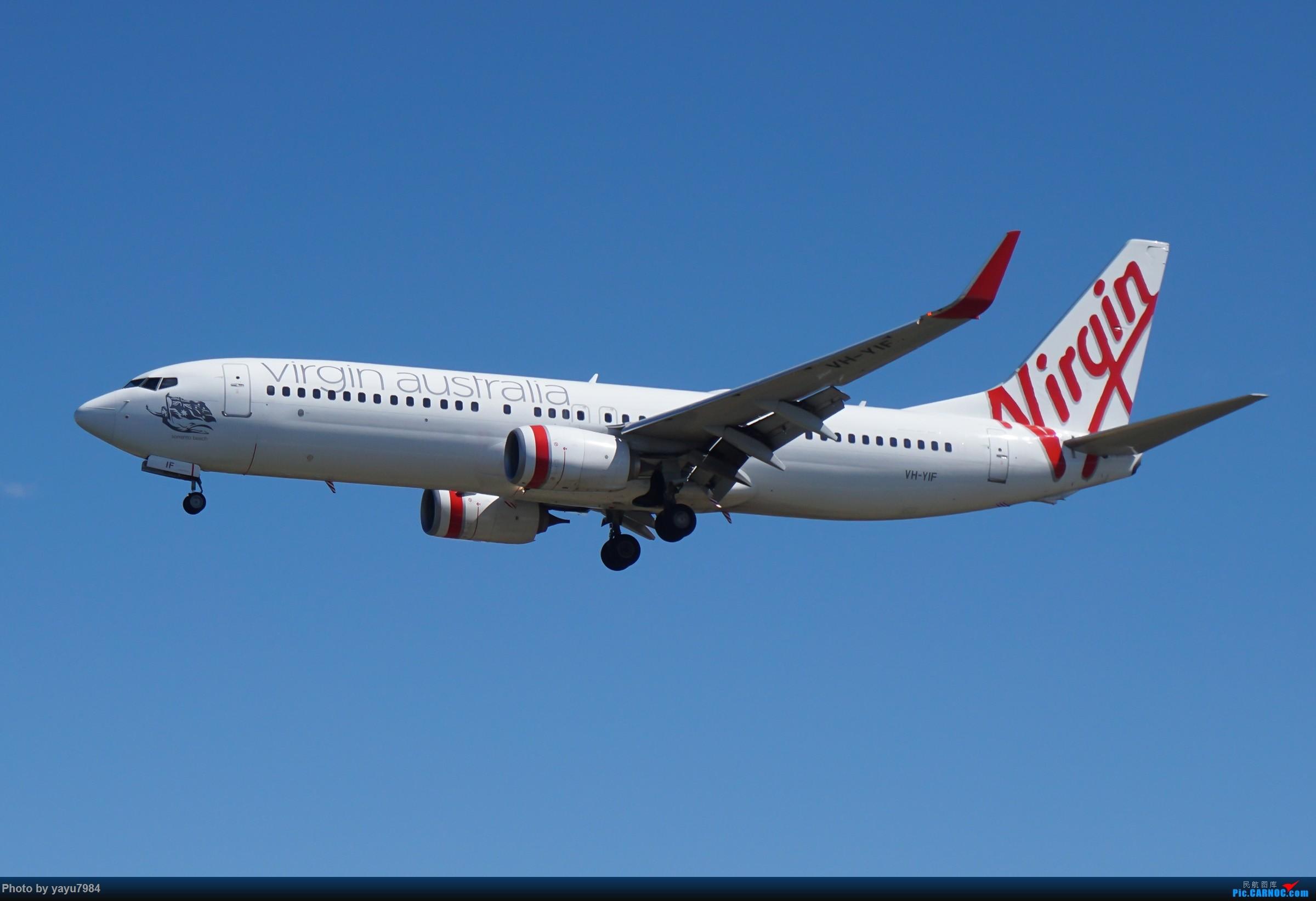 Re:[原创][SYD] 东航天合332,雪绒花343,华航蓝鹊,以及其他日常货 BOEING 737-800 VH-YIF 澳大利亚悉尼金斯福德·史密斯机场