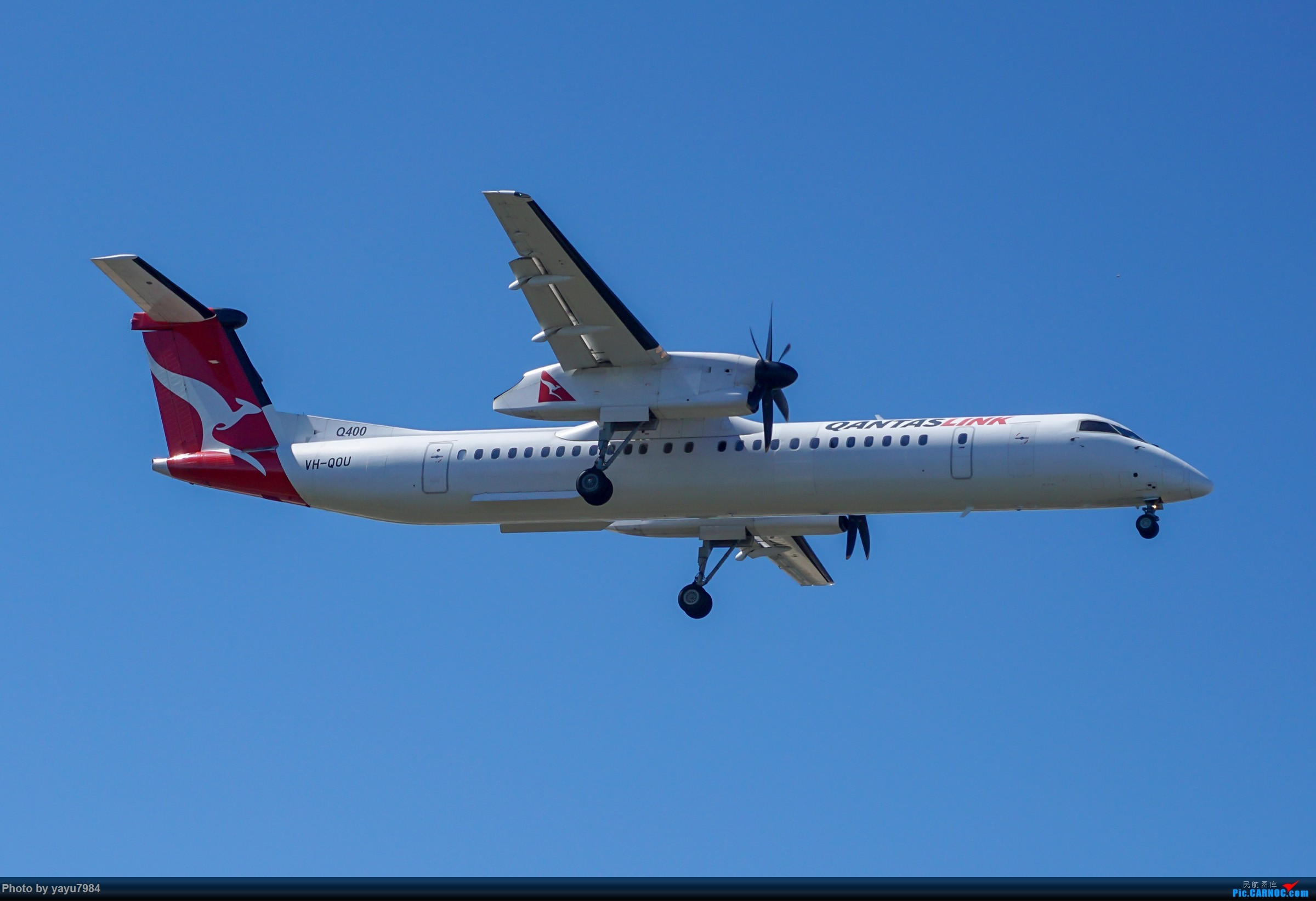 Re:[原创][SYD] 东航天合332,雪绒花343,华航蓝鹊,以及其他日常货 DE HAVILLAND CANADA DHC-8-400 VH-QOU 澳大利亚悉尼金斯福德·史密斯机场