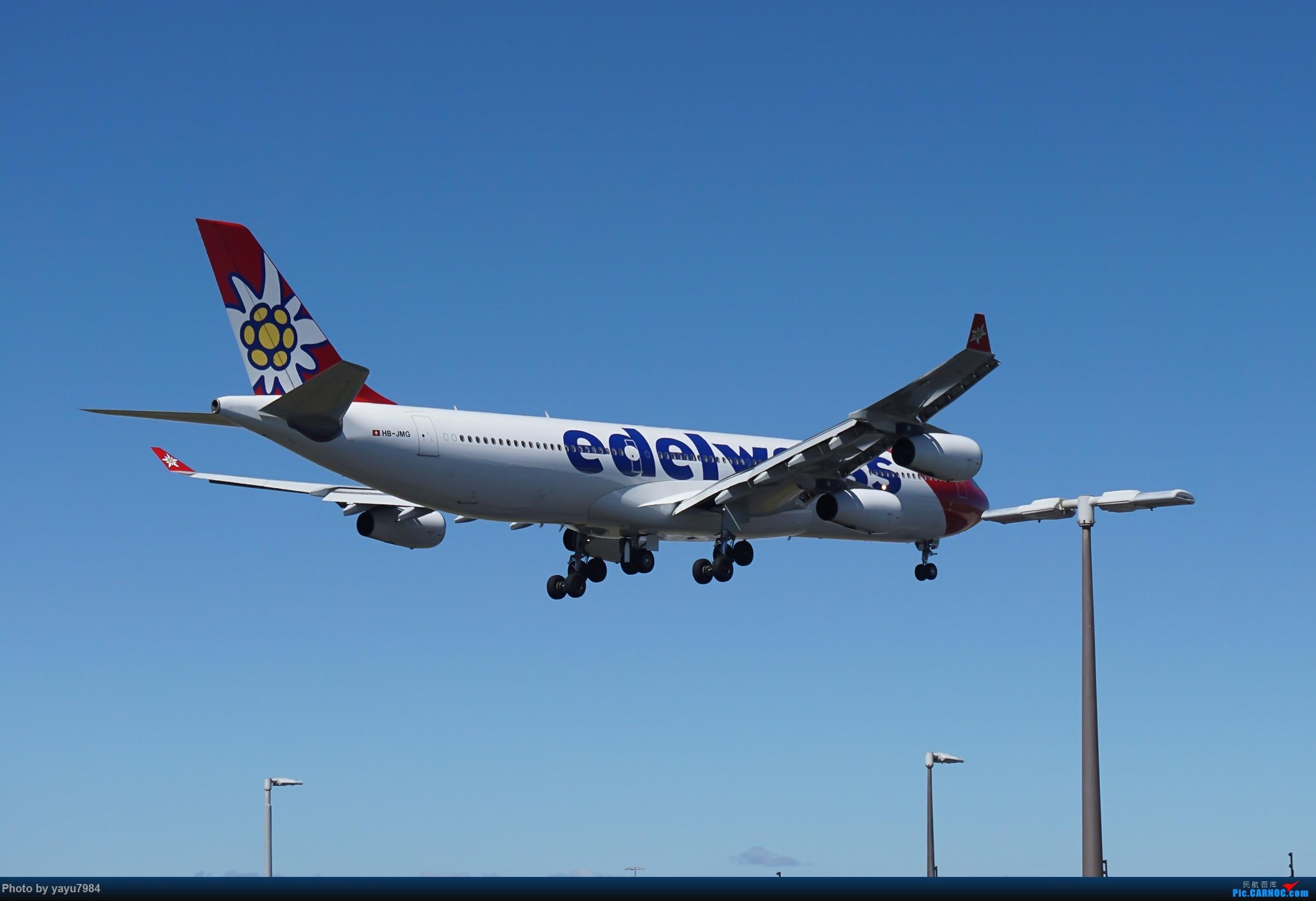 Re:[原创][SYD] 东航天合332,雪绒花343,华航蓝鹊,以及其他日常货 AIRBUS A340-300 HB-JMG 澳大利亚悉尼金斯福德·史密斯机场