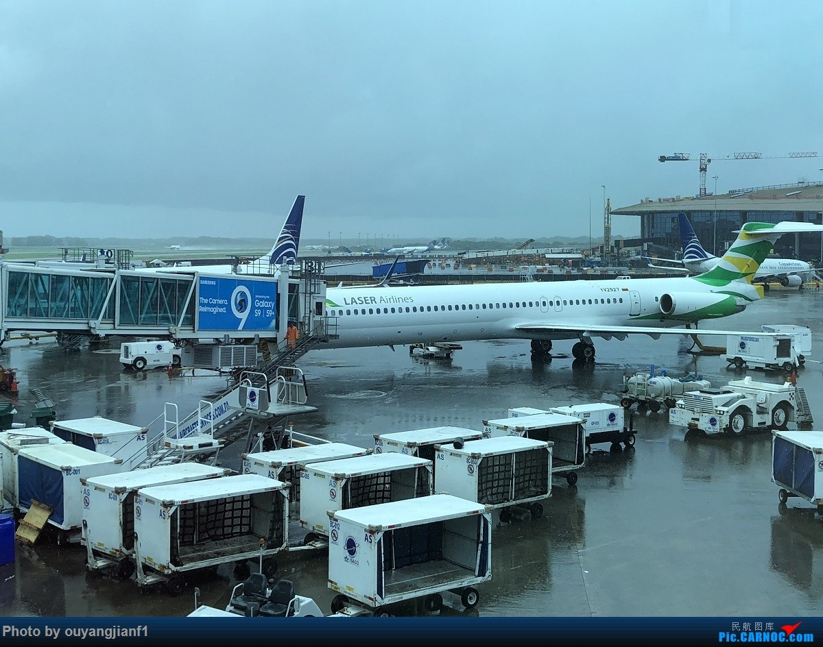 又是好久没来坛子了,发几篇2018年的飞行游记纪念一下吧....第一篇,环球飞行之旅:北京-纽瓦克-波哥大-麦德林-巴拿马城-墨西哥城-法兰克福-北京 MD MD-80-82 YV2927 巴拿马巴拿马城托库门国际机场