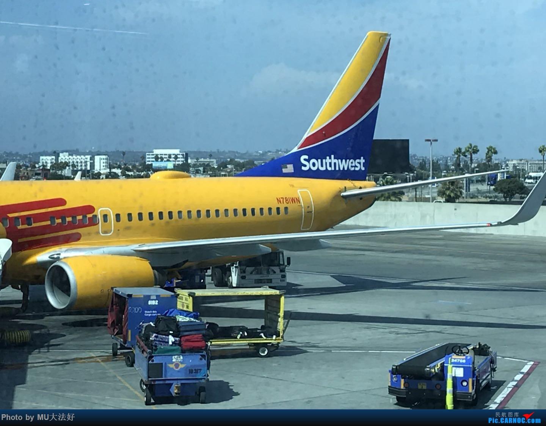 [原创]第一次发图,美西南新墨西哥彩绘 BOEING 737-700 N781WN 洛杉矶国际机场