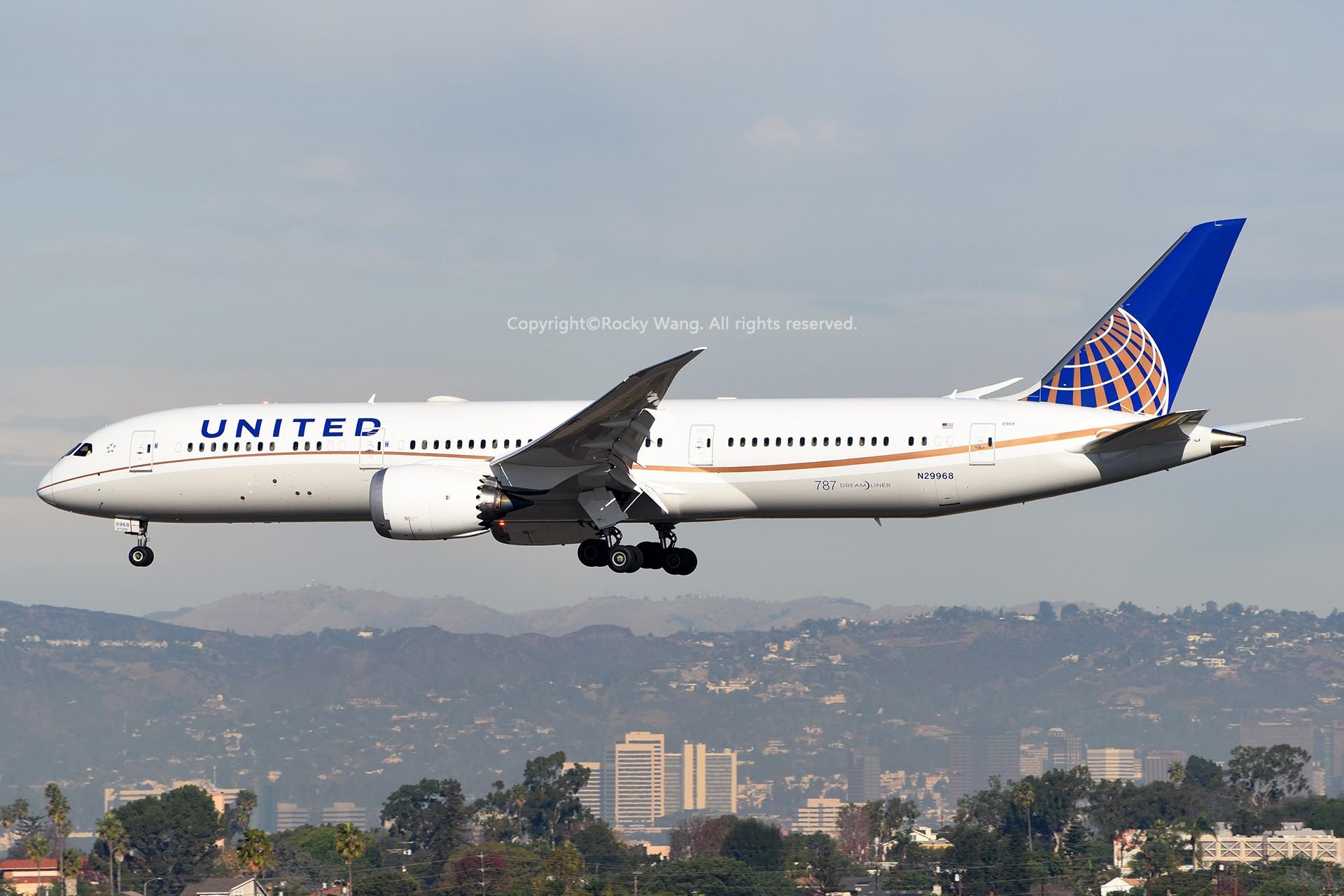 Re:KLAX 30图 BOEING 787-9 DREAMLINER N29968 Los Angeles Int'l Airport