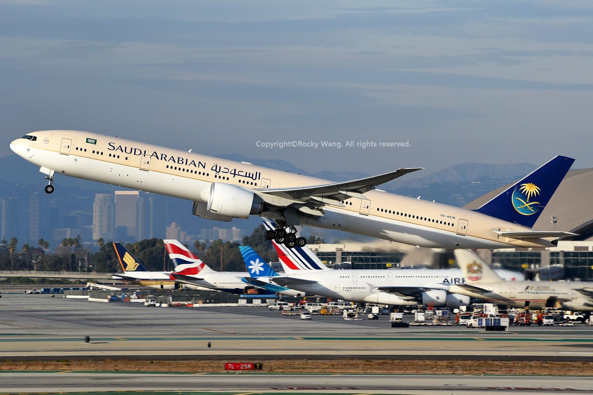 Re:[原创]KLAX 30图 BOEING 777-368ER HZ-AK18 Los Angeles Int'l Airport