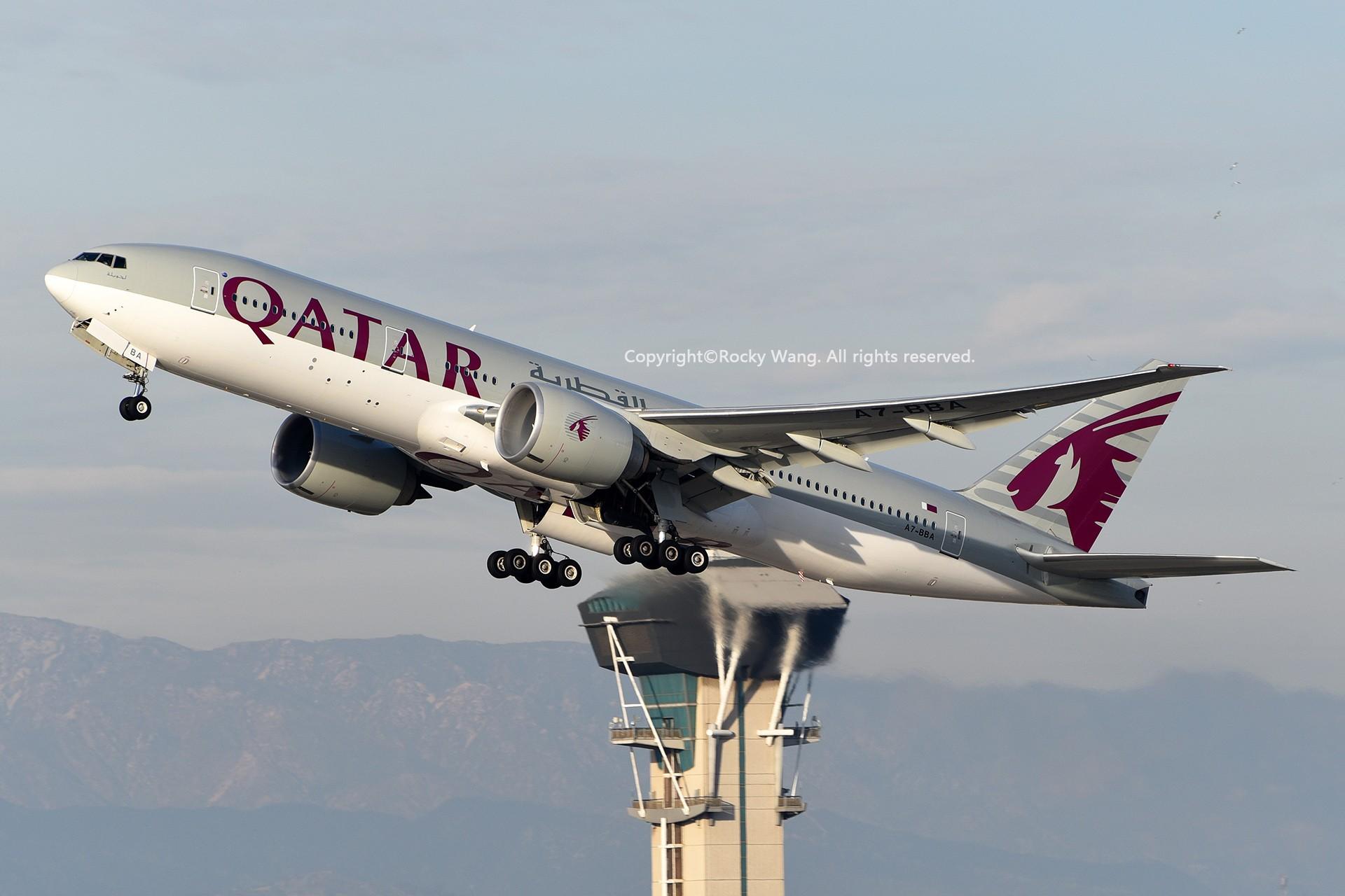 Re:[原创]KLAX 30图 BOEING 777-2DZLR A7-BBA Los Angeles Int'l Airport