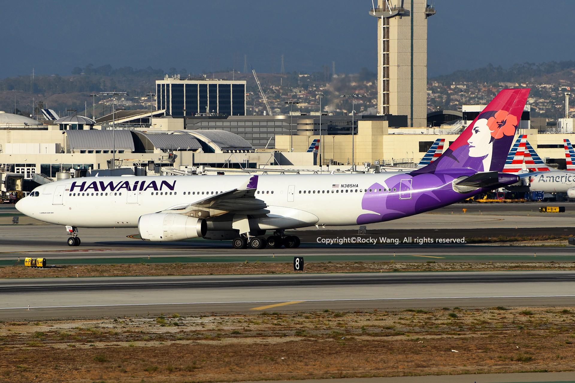 Re:[原创]KLAX 30图 AIRBUS A330-243 N385HA Los Angeles Int'l Airport
