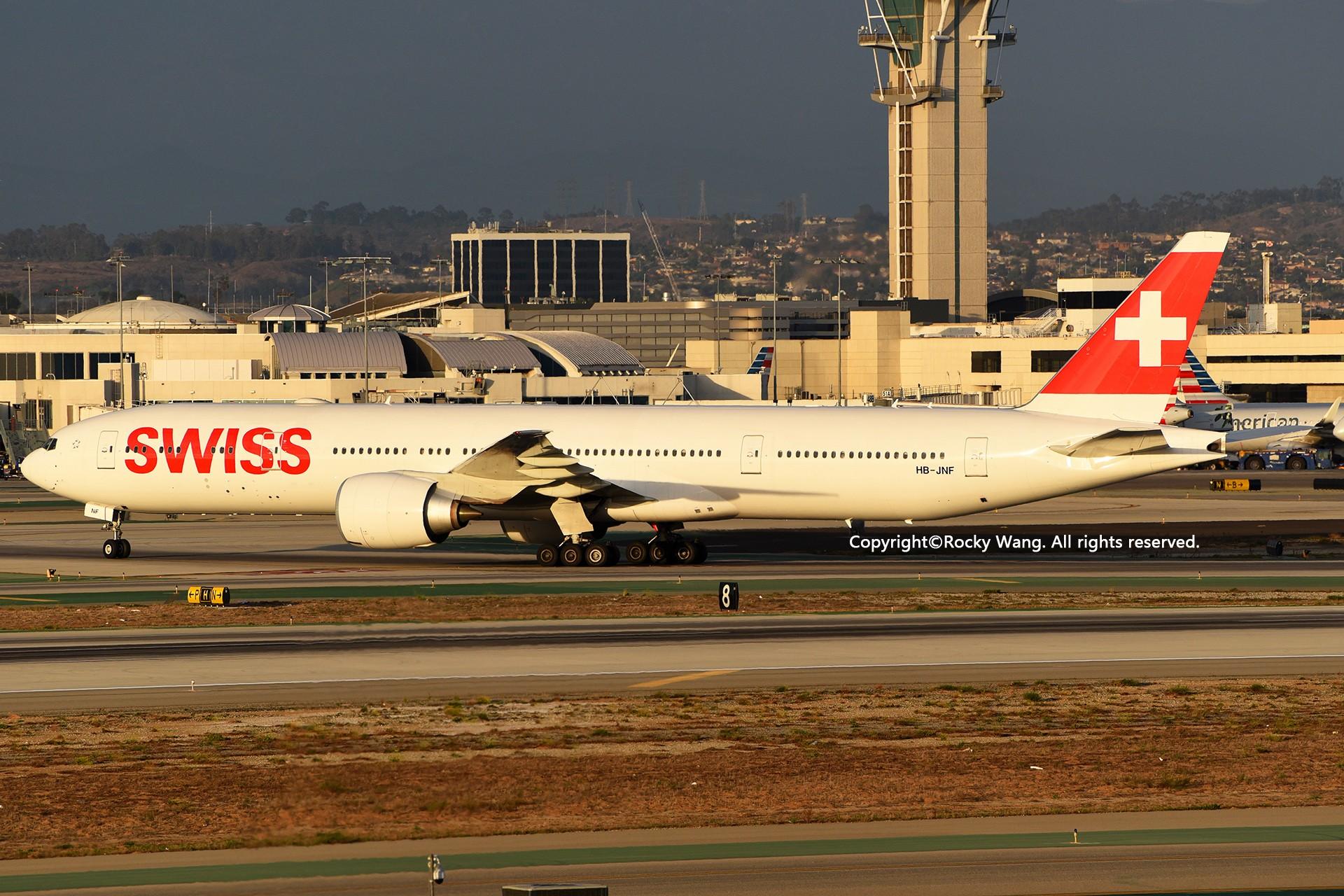 Re:[原创]KLAX 30图 BOEING 777-3DEER HB-JNF Los Angeles Int'l Airport