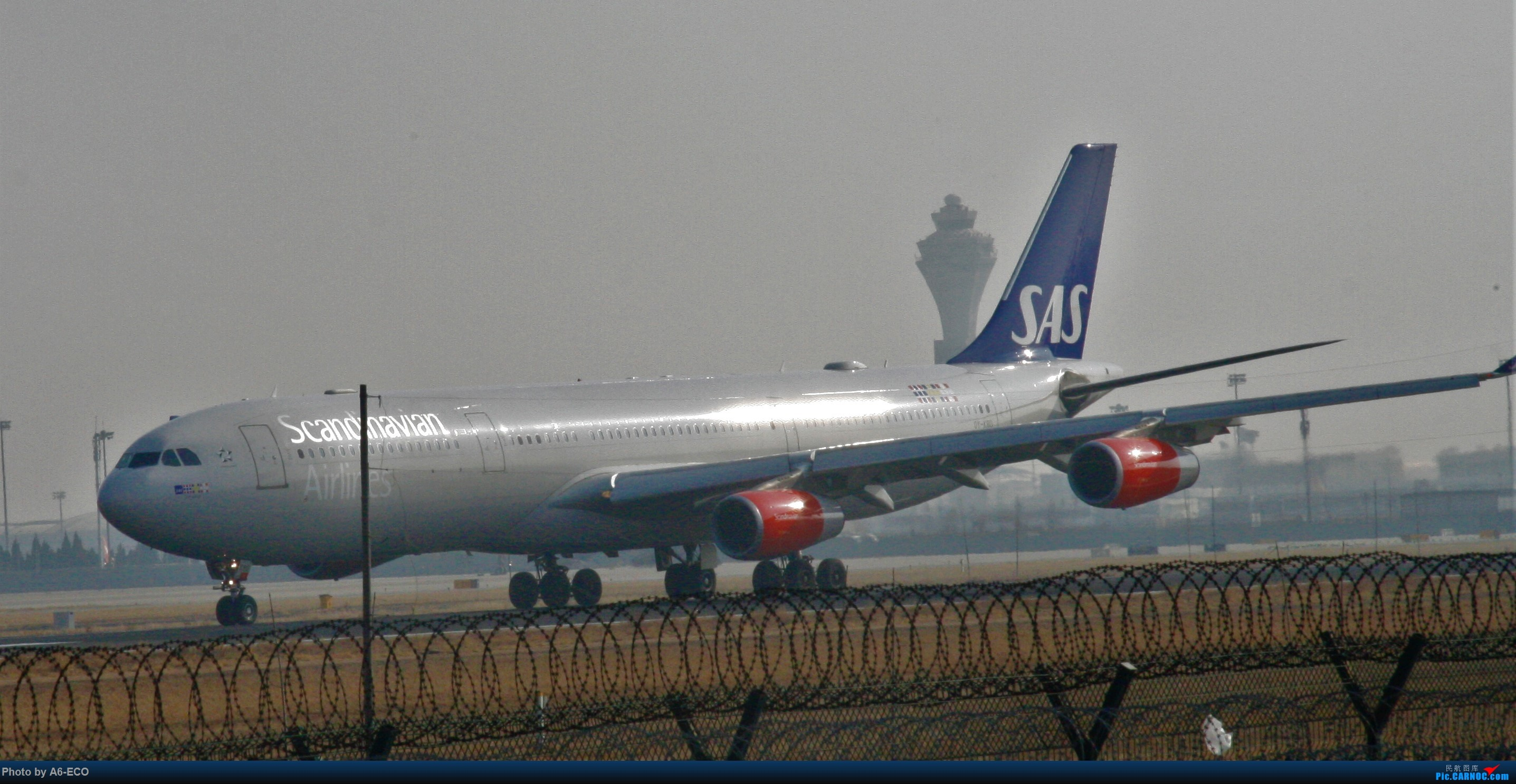 Re:[原创]今天运气极好,云南孔雀,B-1070,2个菜航邮戳,泡菜航彩绘,东航邮戳...... AIRBUS A340-300 OY-KBD 中国北京首都国际机场