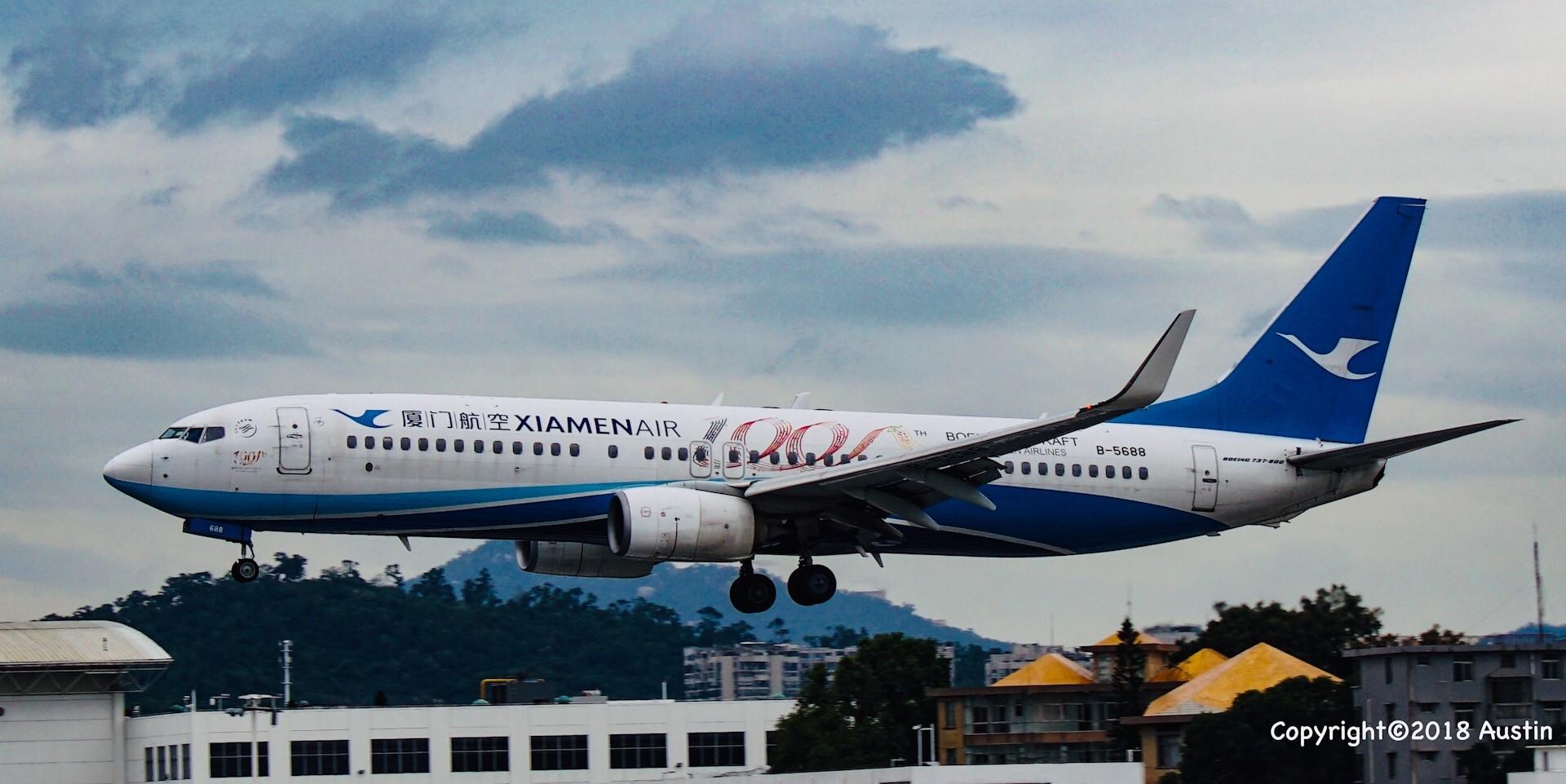 Re:[原创][XMN]接熊猫啦~part 1 BOEING 737-85C(WL) B-5688 中国厦门高崎国际机场