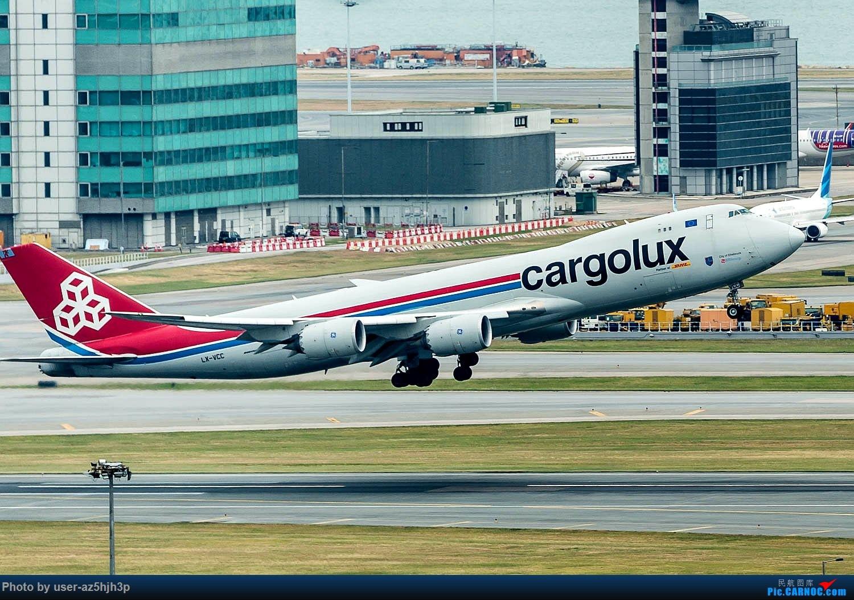 [原创]香港机场拍的747 BOEING 747-8F LX-VCC 香港赤鱲角国际机场