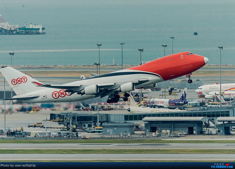 Re:[原创]香港机场拍的747 BOEING 747-400 OO-THB 香港赤鱲角国际机场