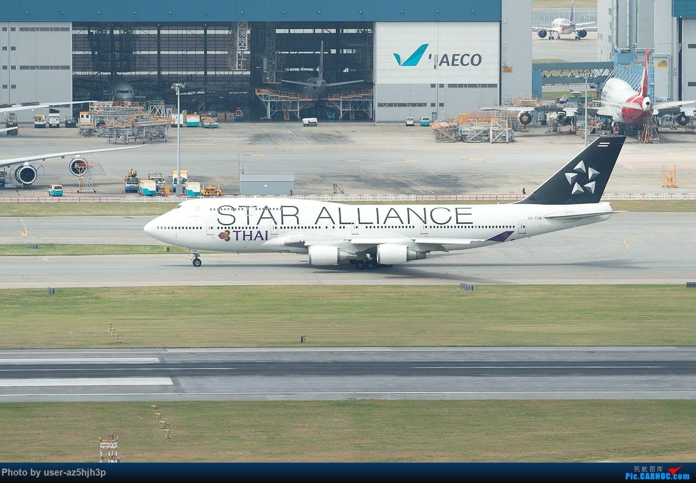 Re:[原创]香港机场拍的747 BOEING 747-400 HS-TGW 香港赤鱲角国际机场