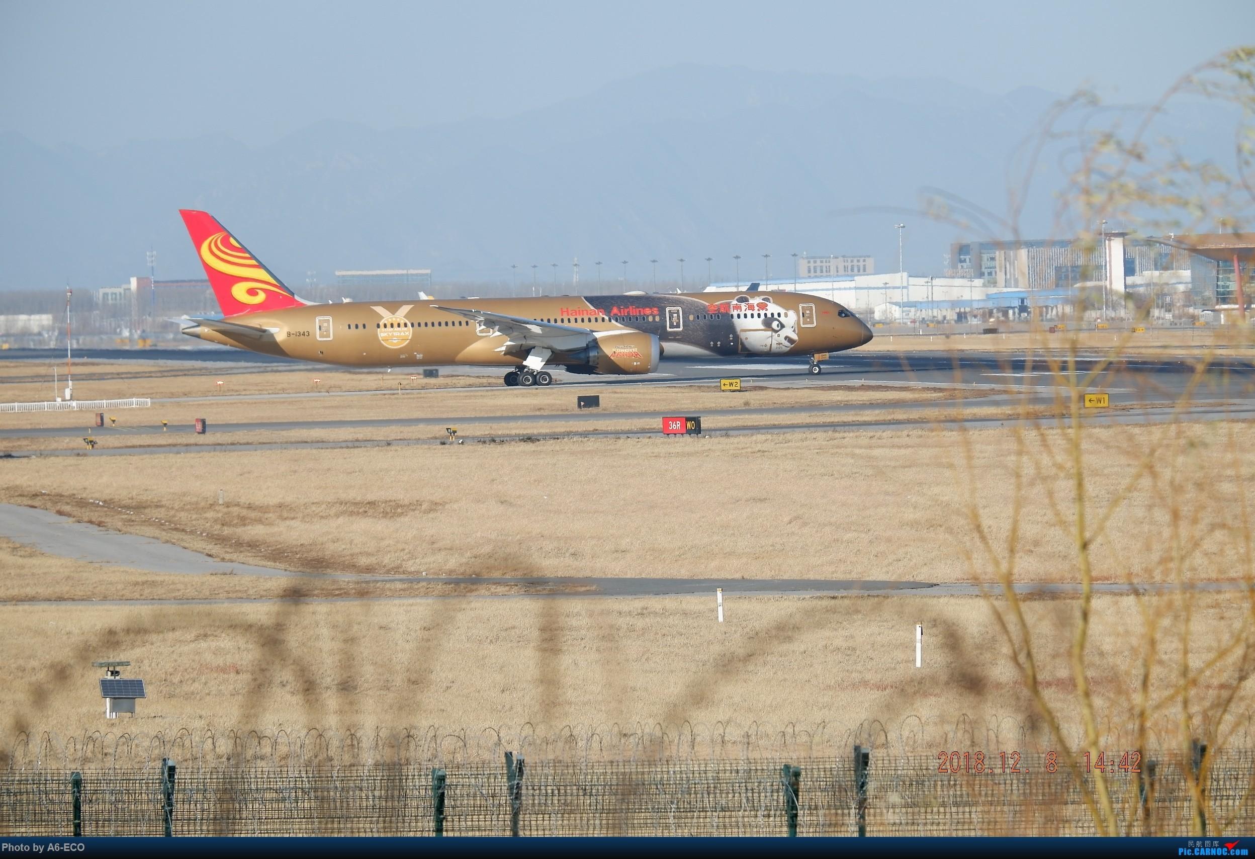 Re:[原创]波音787首飞九周年发图祝贺一下 BOEING 787-9 B-1343 中国北京首都国际机场