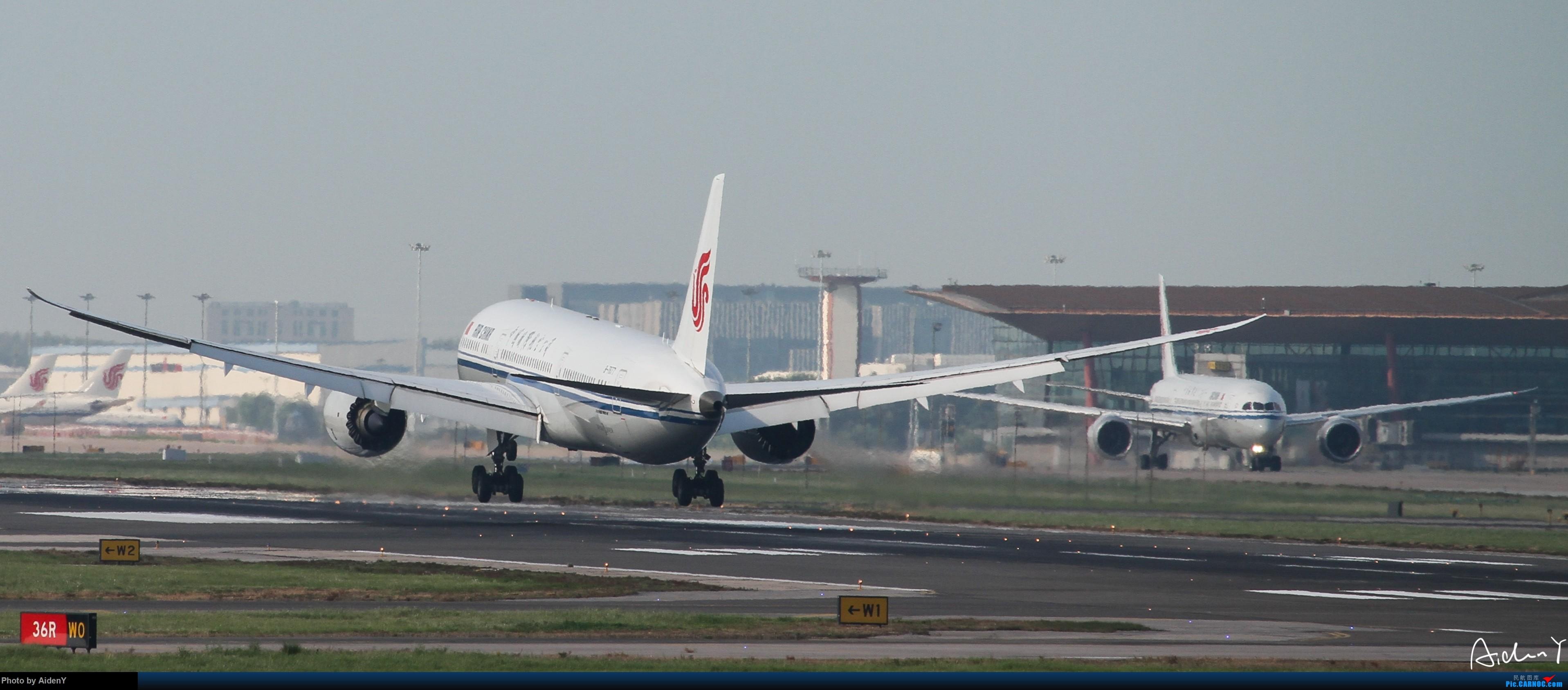 [原创]一图~八卦台双CA789~第一次大家轻喷 BOEING 787-9 B-7877 北京首都国际机场