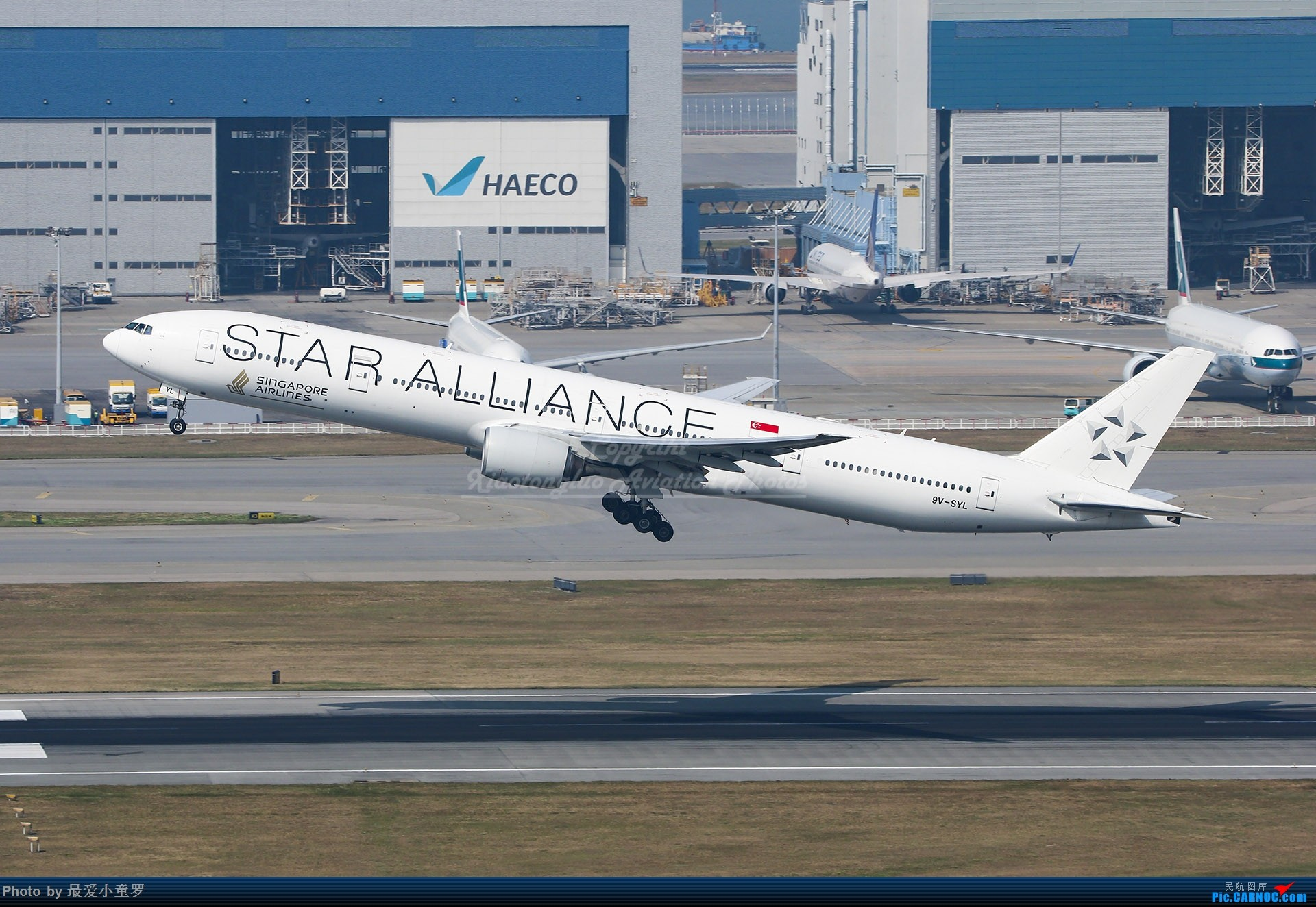 Re:[原创]2013-2018,系列组图纪念拍机5周年 BOEING 777-300 9V-SYL 中国香港国际机场