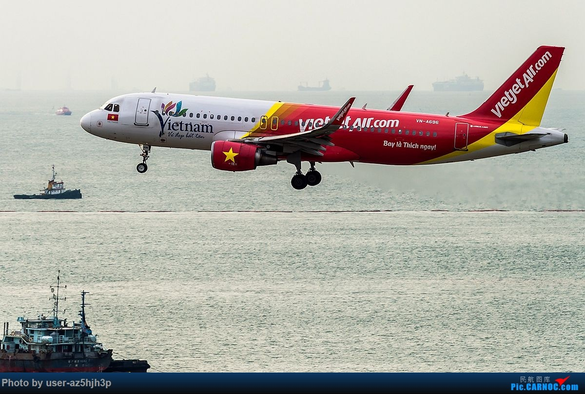 Re:[原创]空客A320系列一组 AIRBUS A320-200 VN-A696 香港国际机场