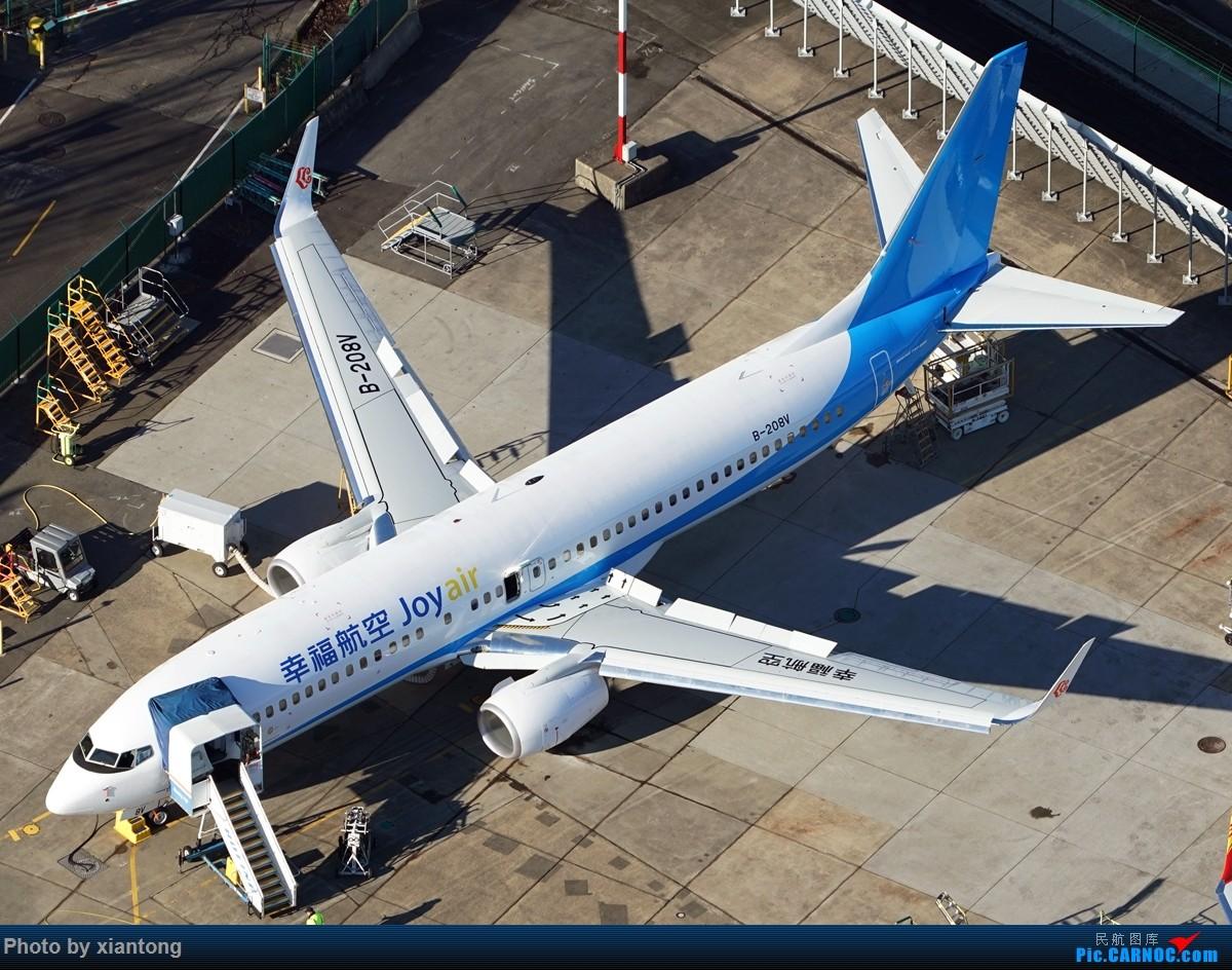 [原创]{XIANTONG与飞机系列】发的有点儿晚了,幸福的第一架737 BOEING 737-800 B-208V Renton Municipal Airport