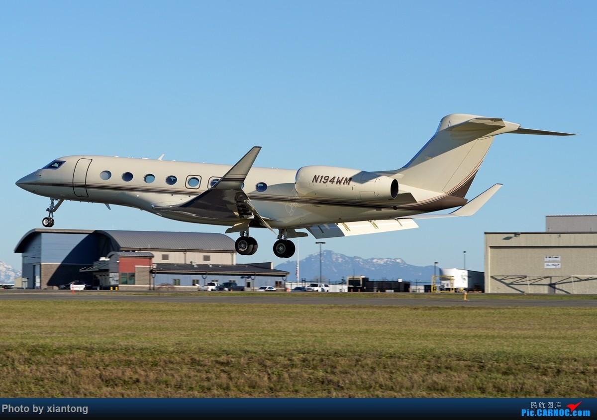 Re:[原创]{XIANTONG与飞机系列】发的有点儿晚了,幸福的第一架737 GULFSTREAM G650ER N194WM 美国埃弗里特佩恩机场