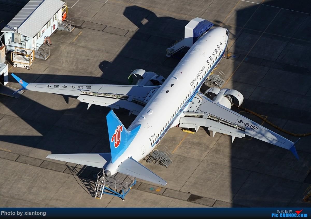 Re:[原创]{XIANTONG与飞机系列】发的有点儿晚了,幸福的第一架737 BOEING 737 MAX-8 B-205P 美国波音场国王郡立机场