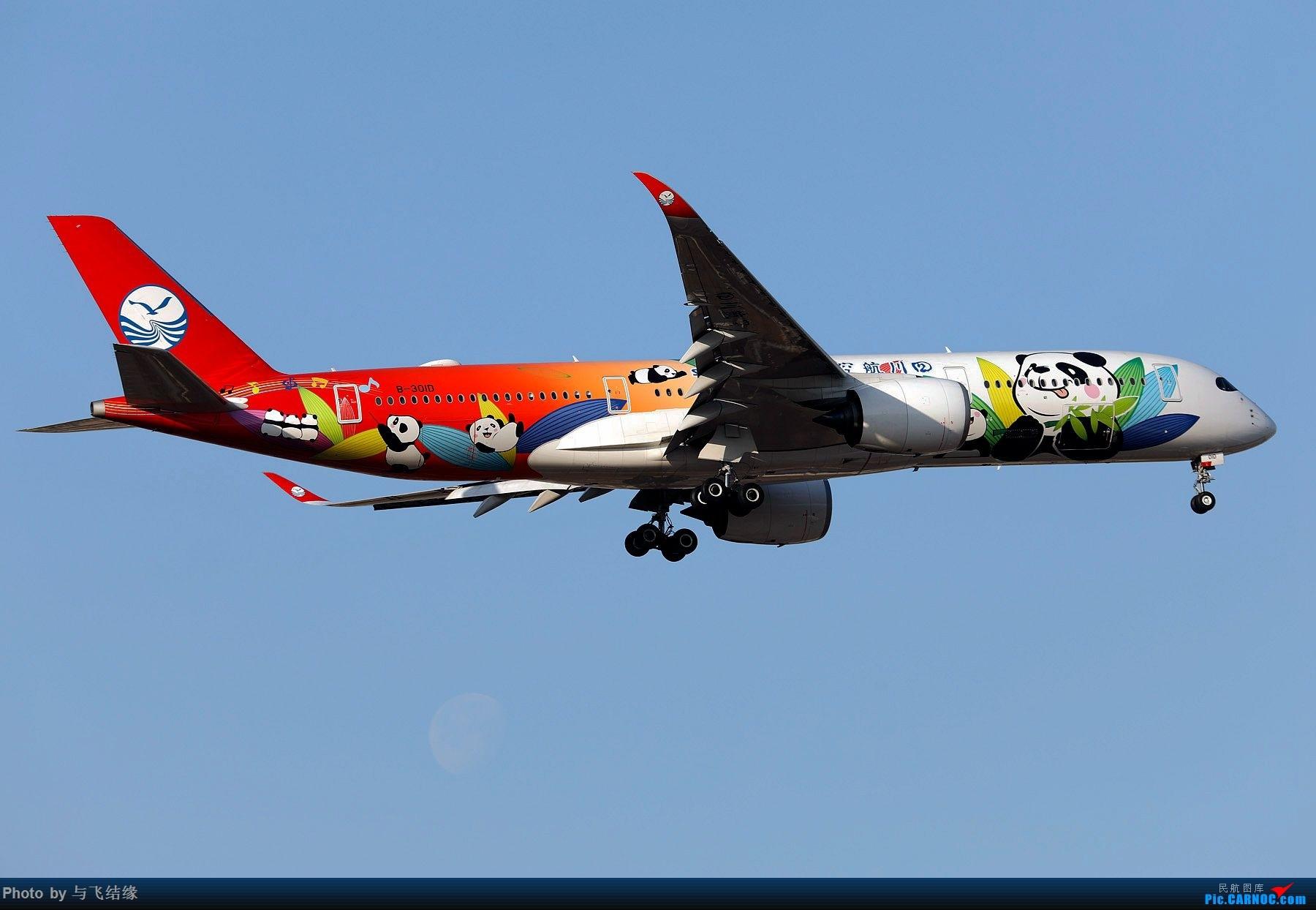 Re:[原创]今日是周末,月末,年末2018年最后一贴,预祝朋友们2019年新年快乐!万事如意! AIRBUS A350-900 B-301D 中国北京首都国际机场