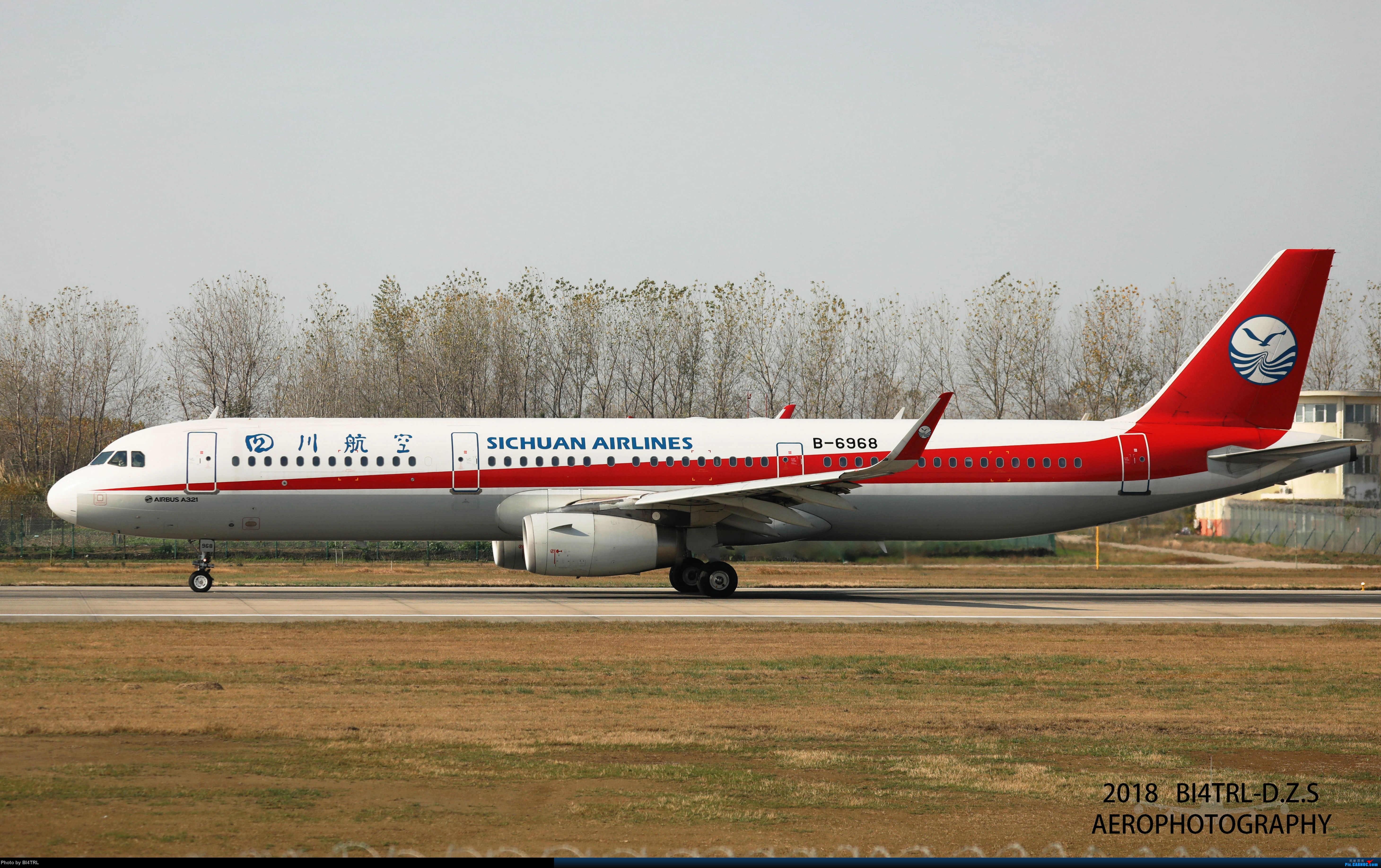 [原创]妹子航B-6968_A321 AIRBUS A321-200 B-6968 中国扬州泰州机场