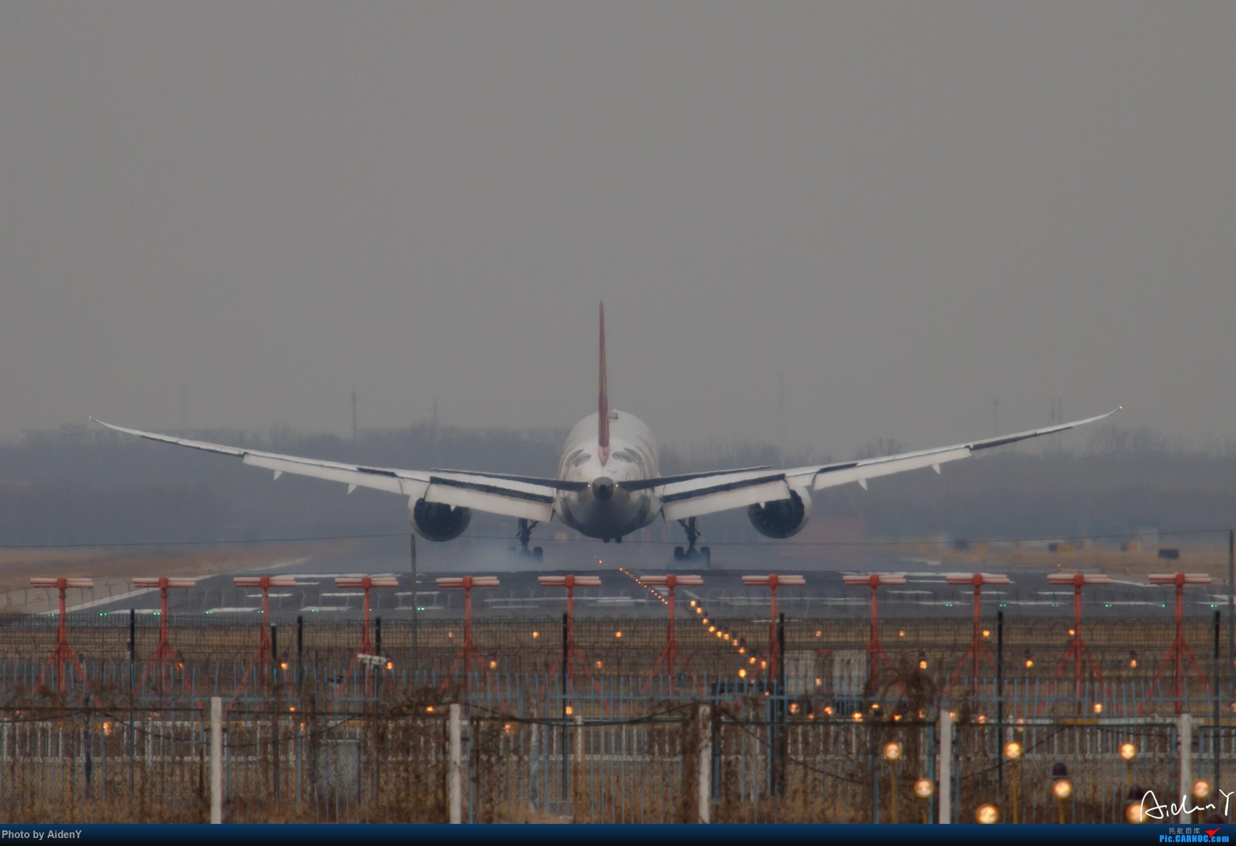 Re:2018/12/31——首都机场水泥蓝天作业——祝众飞友新年快乐! BOEING 787-9 B-1540 中国北京首都国际机场