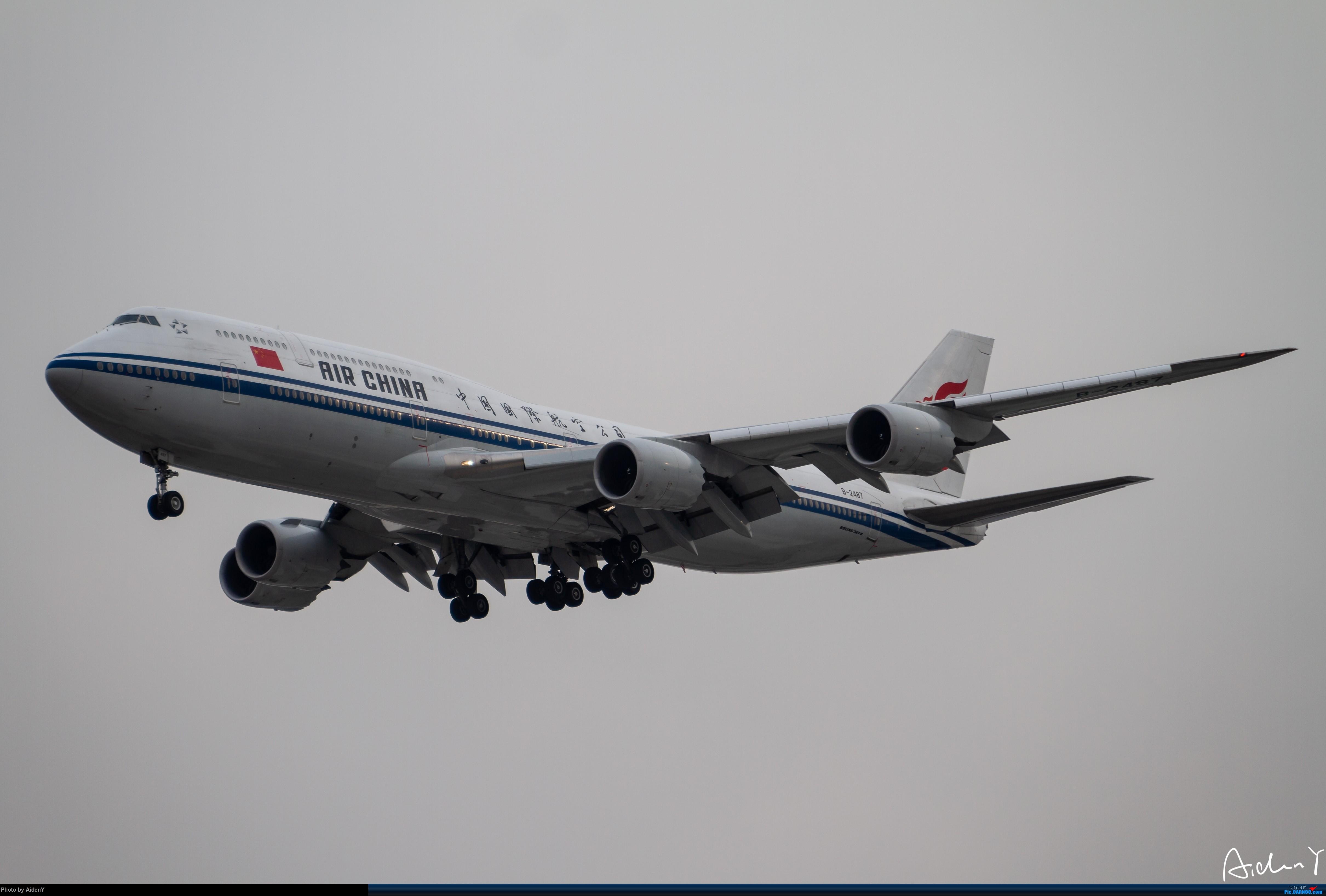 Re:2018/12/31——首都机场水泥蓝天作业——祝众飞友新年快乐! BOEING 747-8I B-2487 中国北京首都国际机场