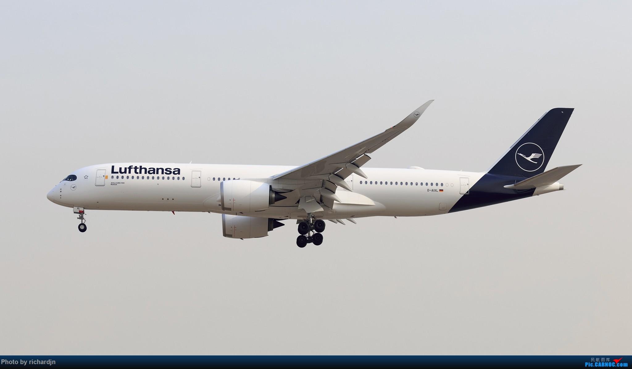 [原创]汉莎新涂装墨镜侠莅临PEK AIRBUS A350 D-AIXL 中国北京首都国际机场