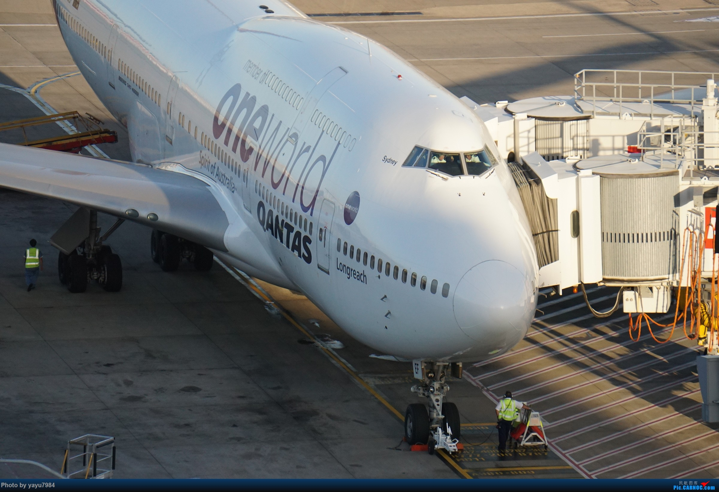 [原创][SYD] 2019首拍,停车楼视角 BOEING 747-438(ER) VH-OEF 澳大利亚悉尼金斯福德·史密斯机场